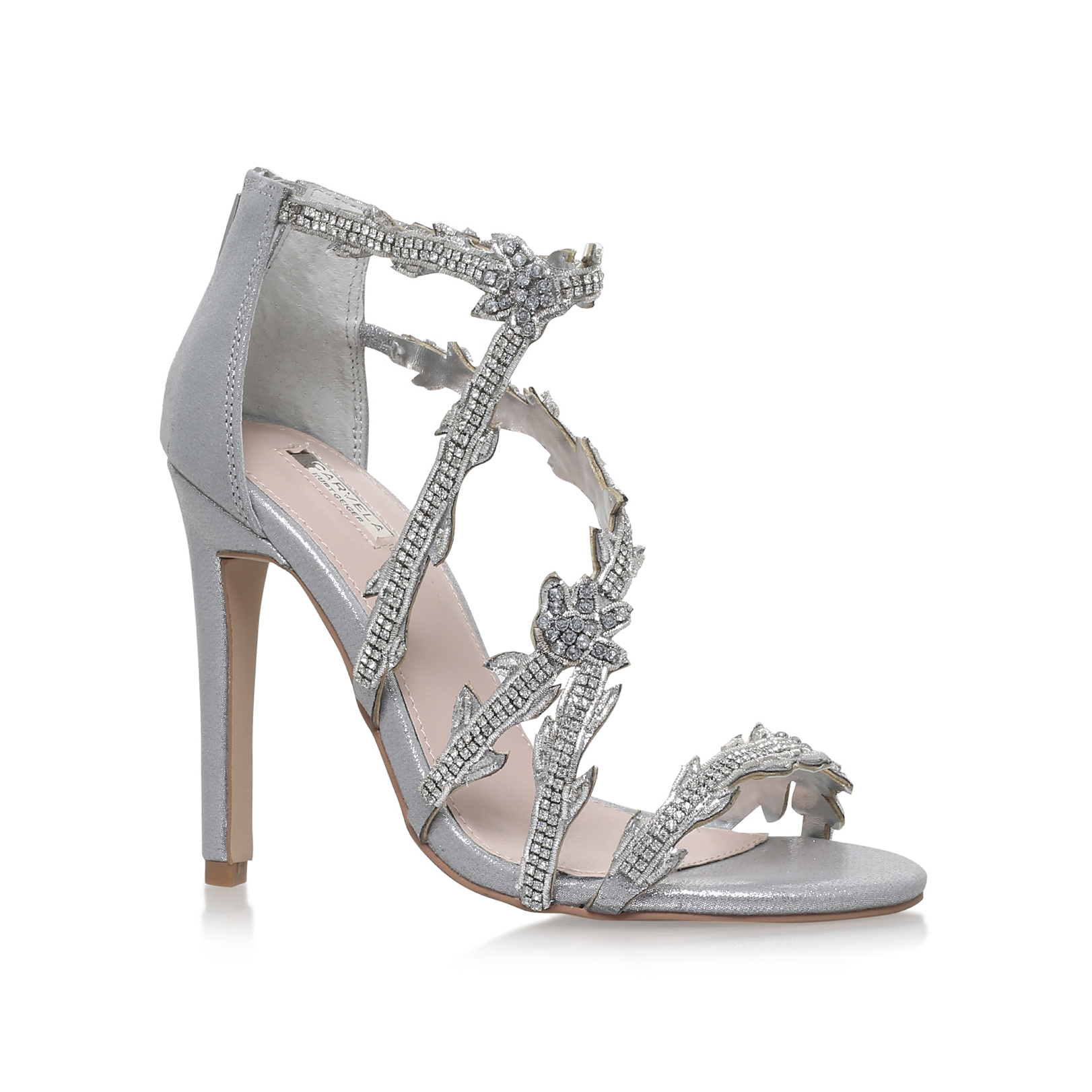 Silver Evening Shoes Uk