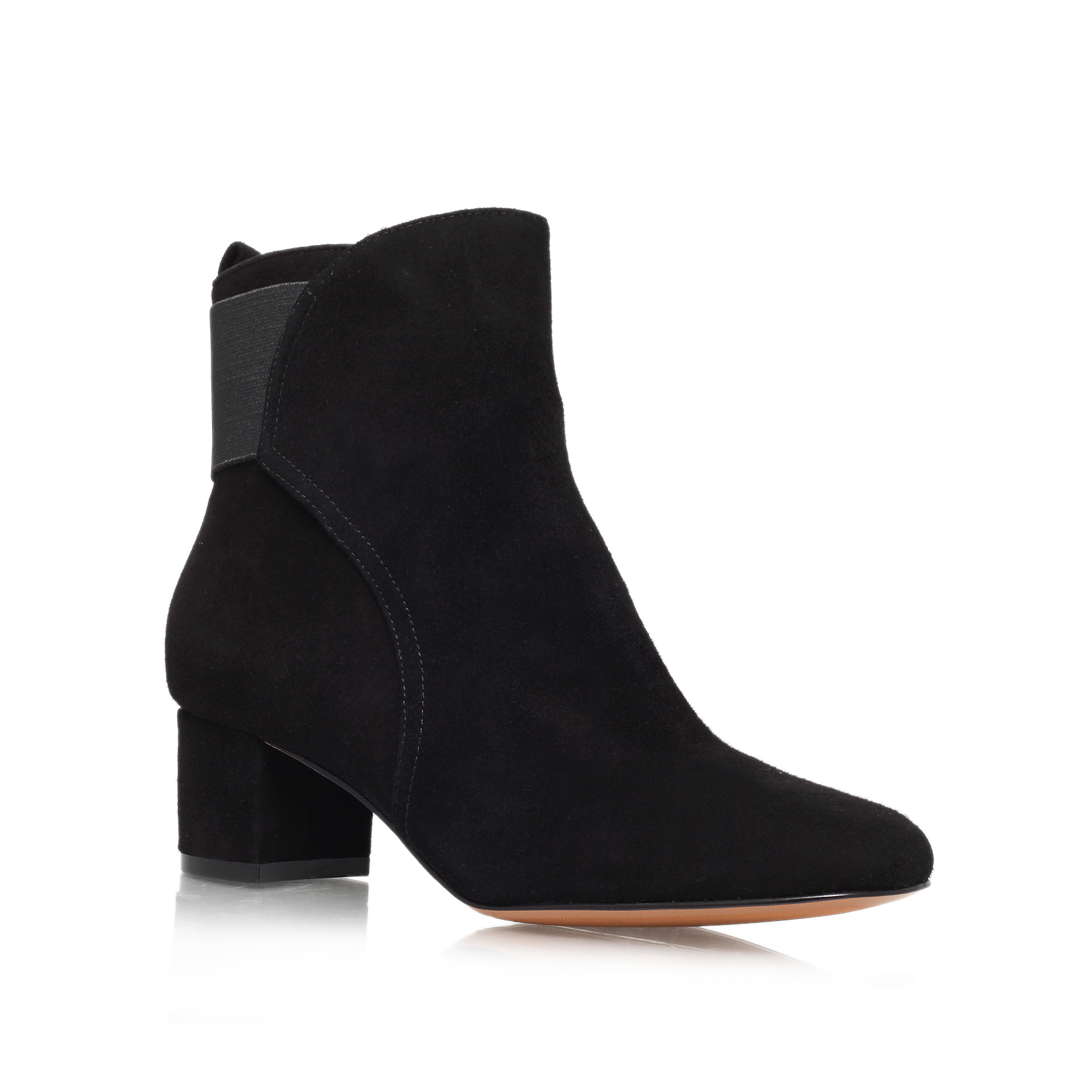 faceit nine west faceit black suede ankle boots by nine west