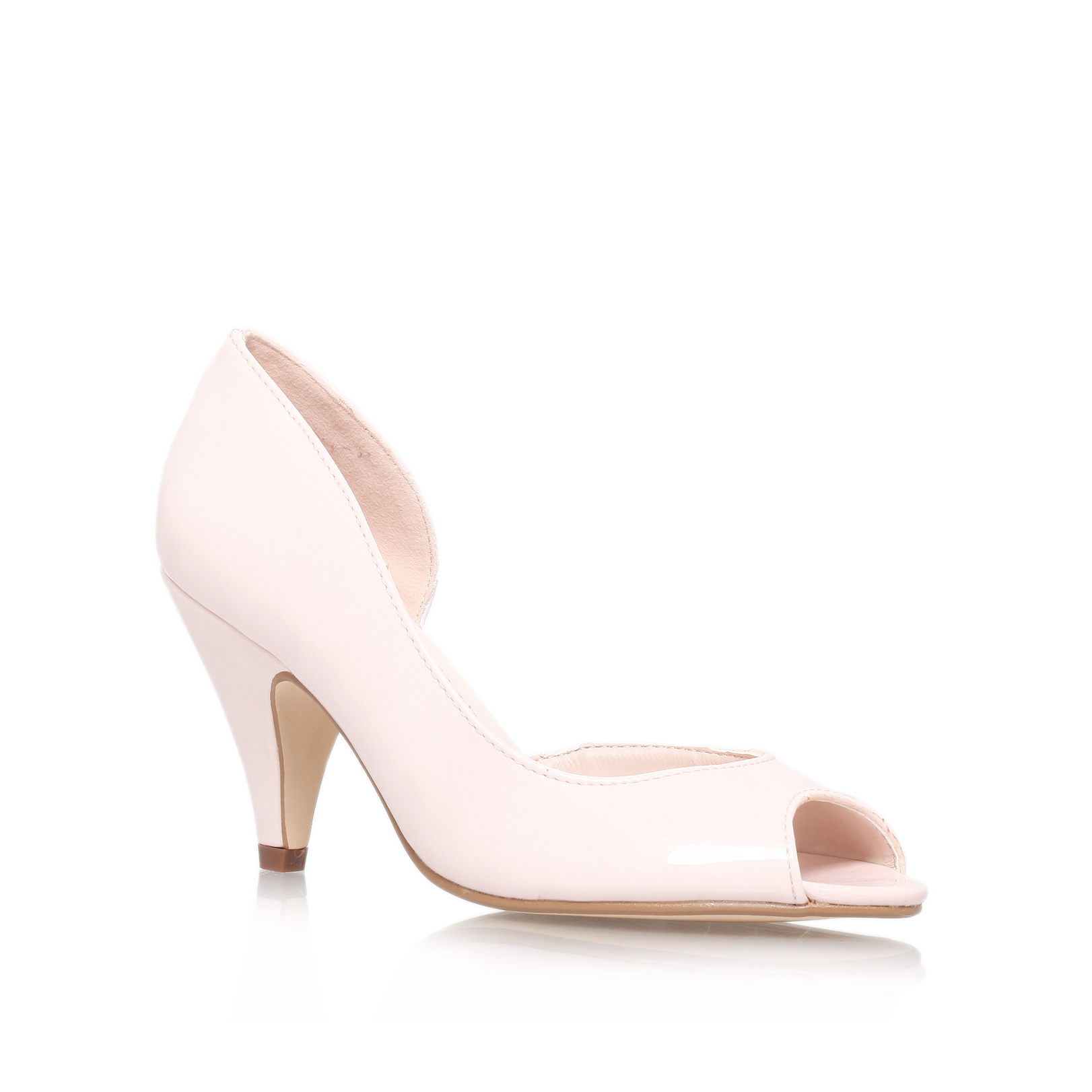miss kg pale pink high heel court shoes by