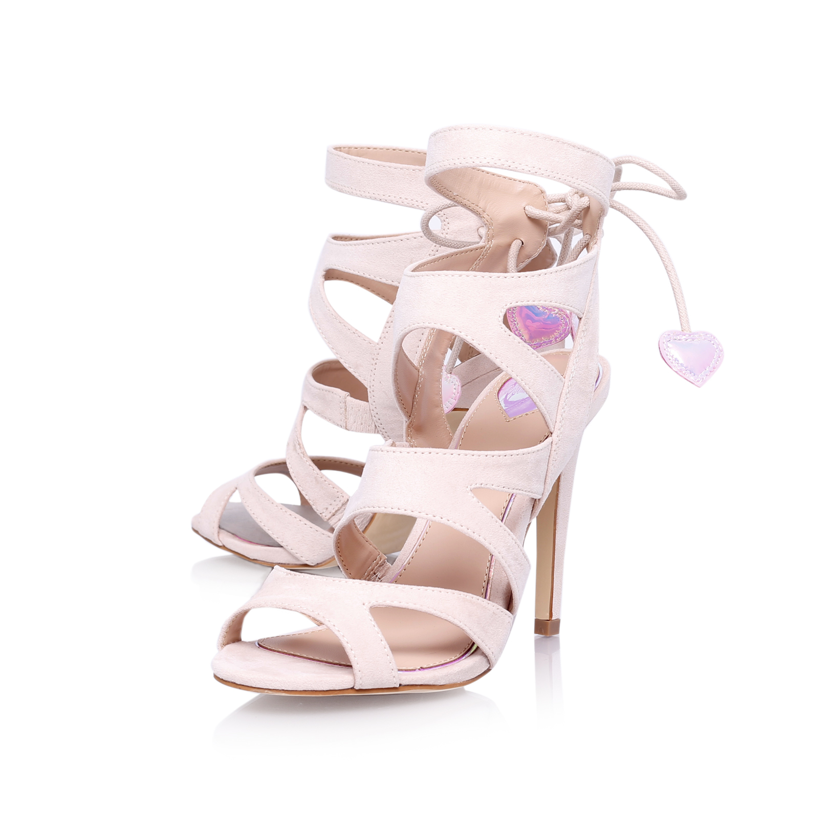FRENCHY Miss KG Frenchy Nude High Heel Sandals by MISS KG