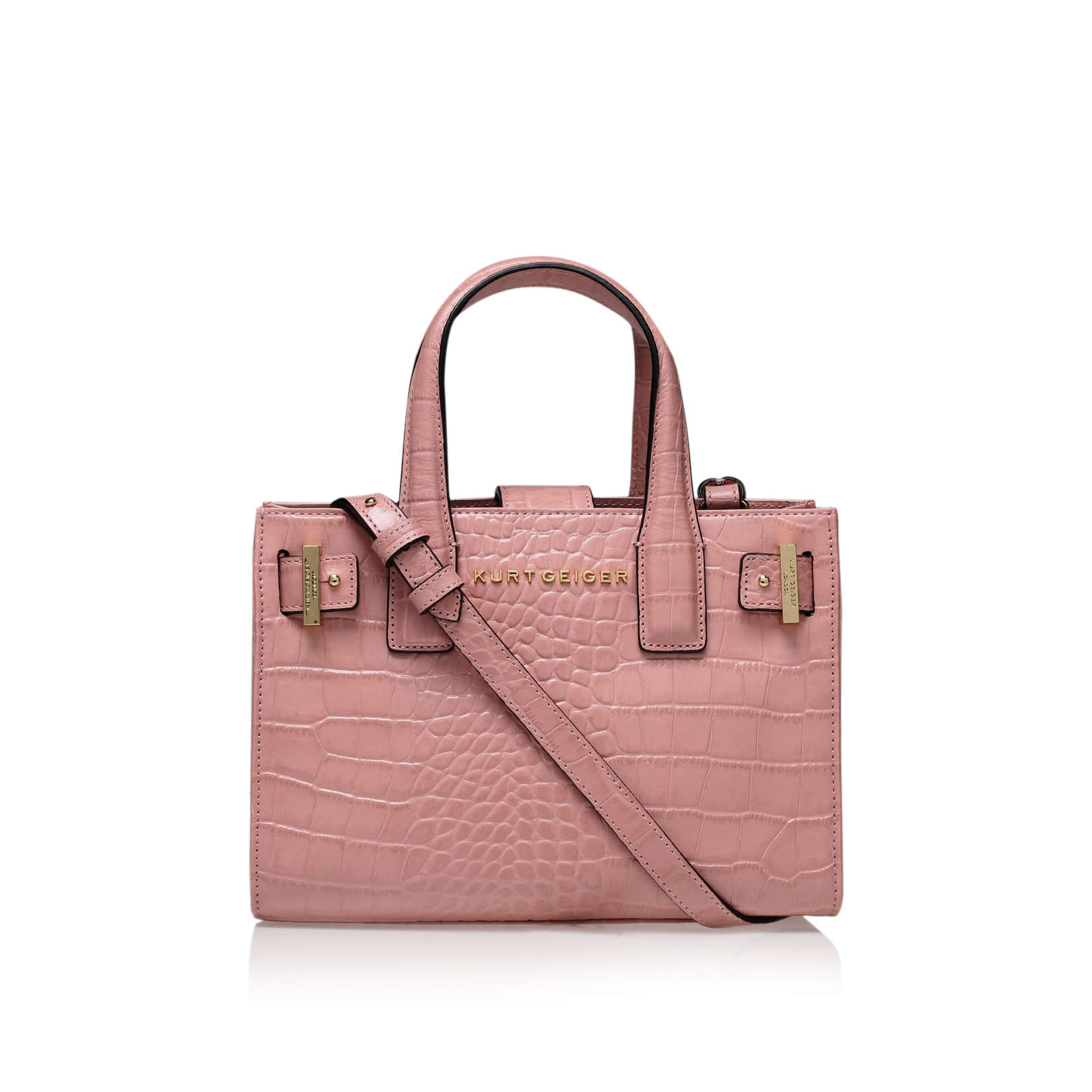 CROC HORIZ LONDON TOTE
