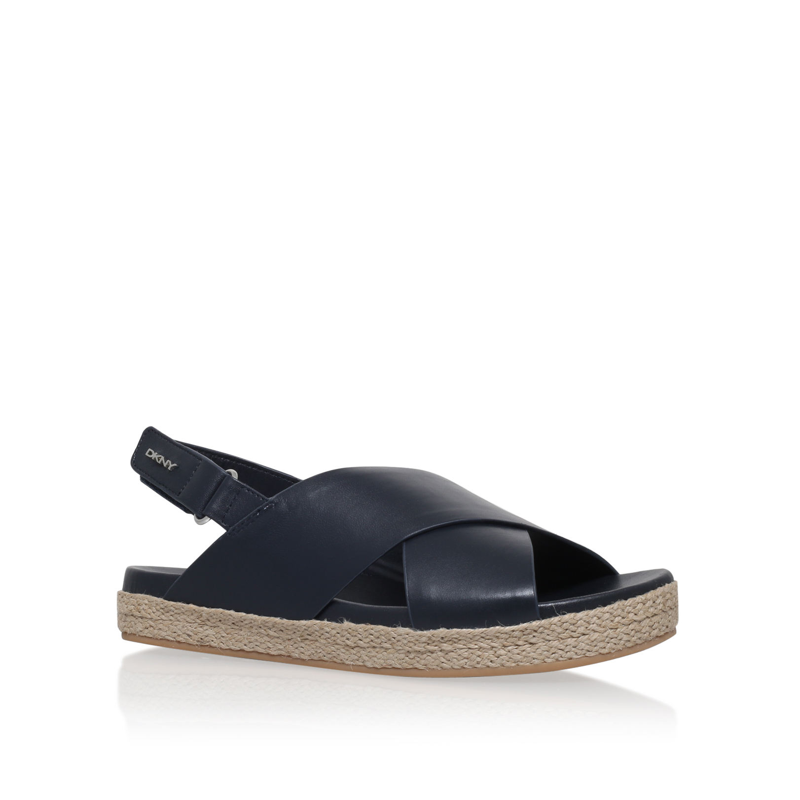 bethune jute dkny bethune jute dark blue leather flat
