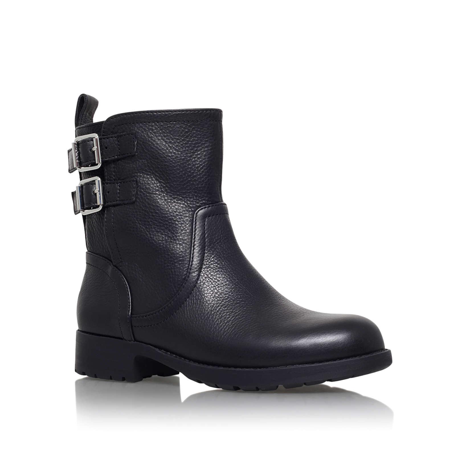 nayla 2 dkny nayla 2 black leather ankle boots by dkny