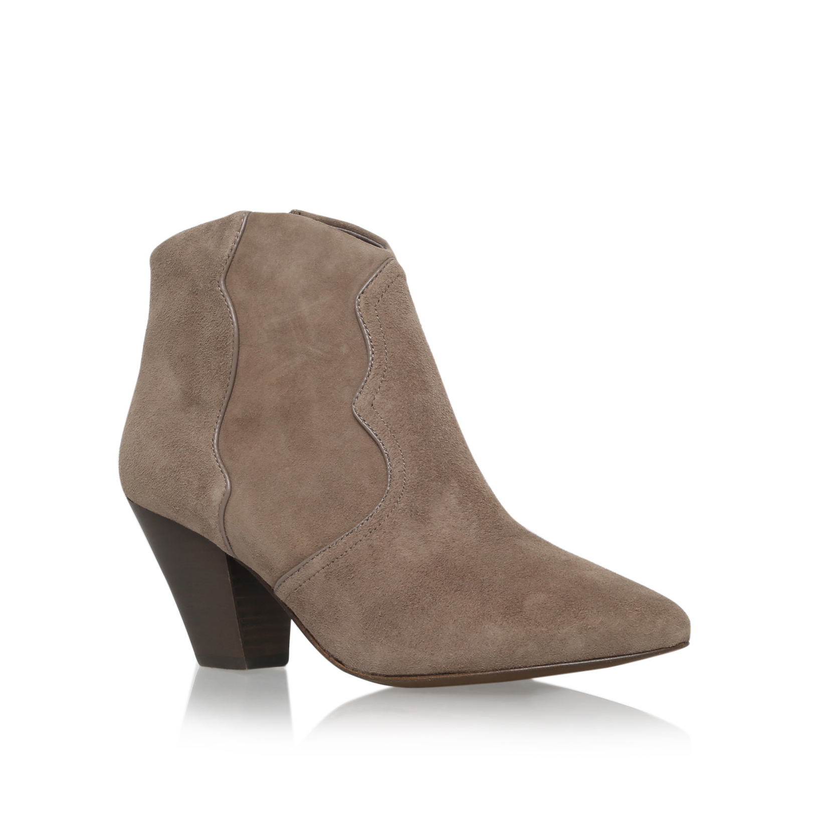 Gang ash gang taupe suede heeled ankle boots by ash - Gang grijze taupe ...