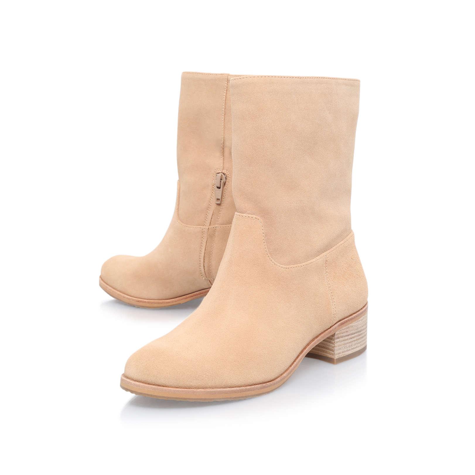 pierce ankle boot michael michael kors pierce ankle boot beige suede ankle boots by michael. Black Bedroom Furniture Sets. Home Design Ideas
