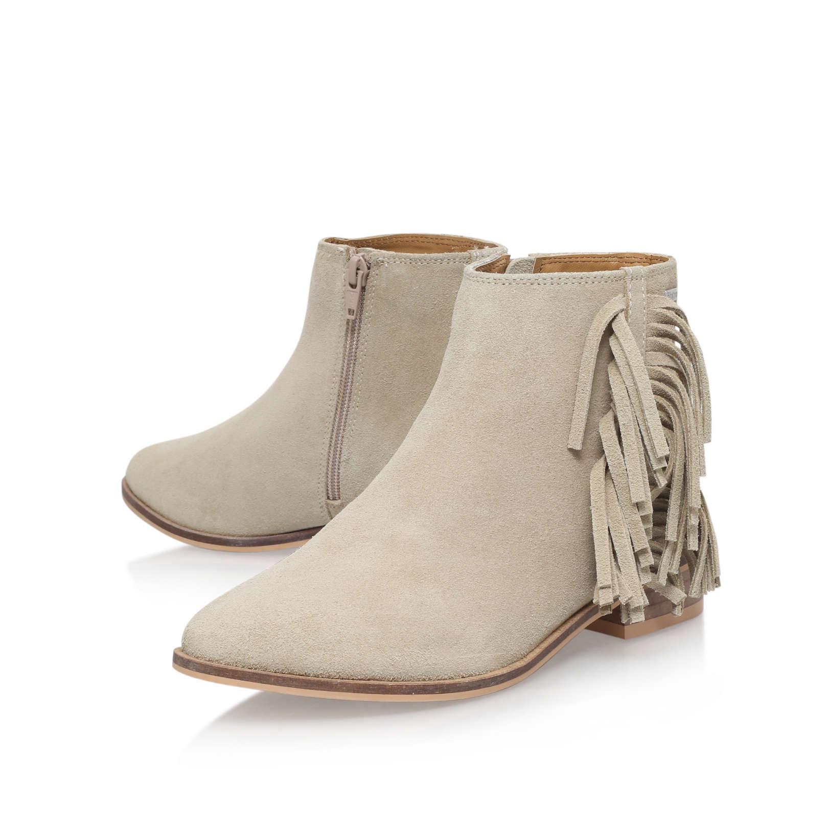 suede tassle ankle boot firetrap suede tassle beige suede flat ankle boots by firetrap. Black Bedroom Furniture Sets. Home Design Ideas