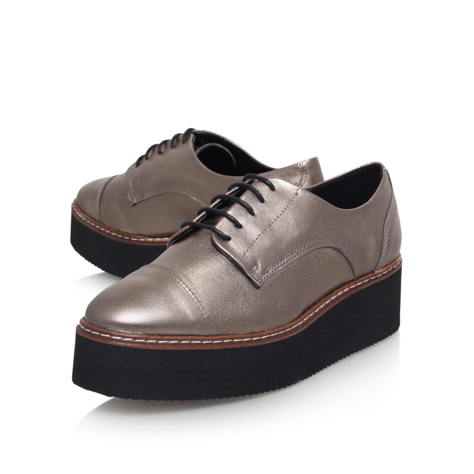carvela kurt geiger bronze leather flat formal