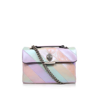 Kurt Geiger London Leather Kensington S Bag - Lilac Rainbow Stripe Shoulder  Bag 1bfc70bf0152b