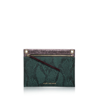 Lurex Snake Gemini Pouch from Kurt Geiger London