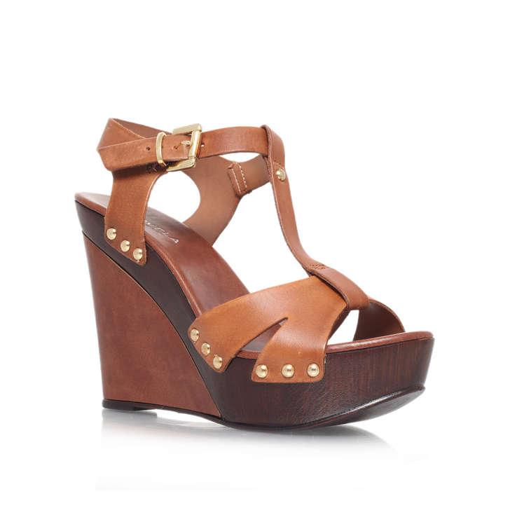 Katey Tan High Heel Wedge Sandals Carvela Kurt Geiger