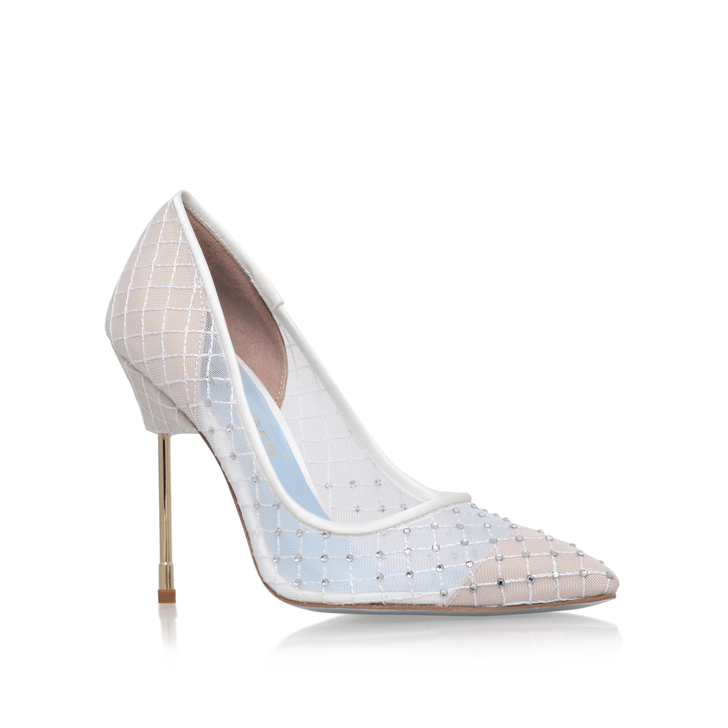 Britton White High Heel Court Shoes By Kurt Geiger London
