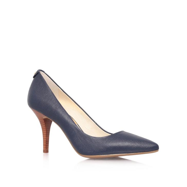 Navy Pump Shoes Mid Heel