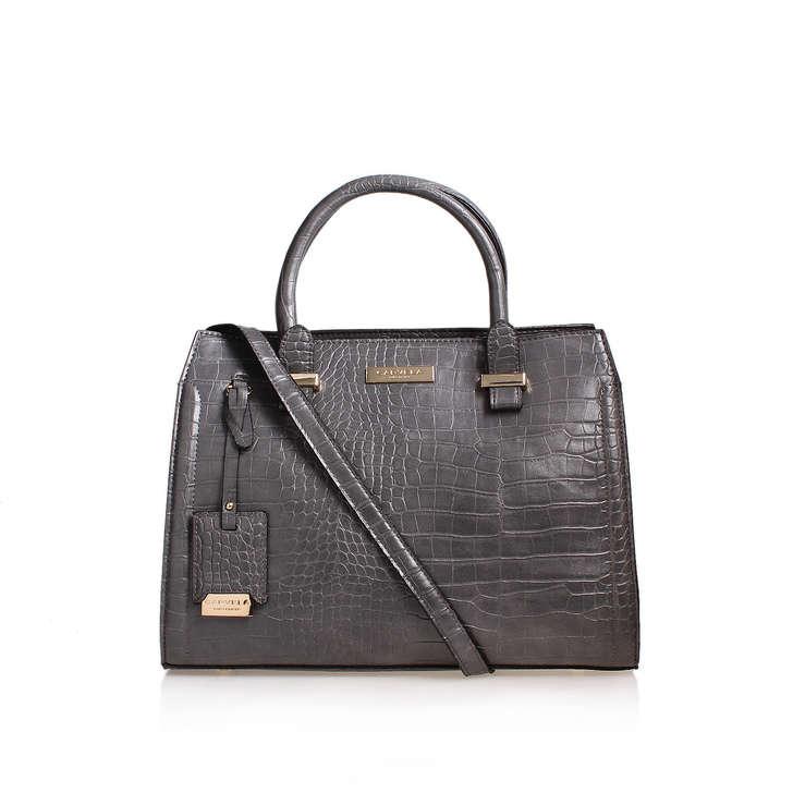 Holly Croc Zip Bag Grey Tote Carvela Kurt Geiger