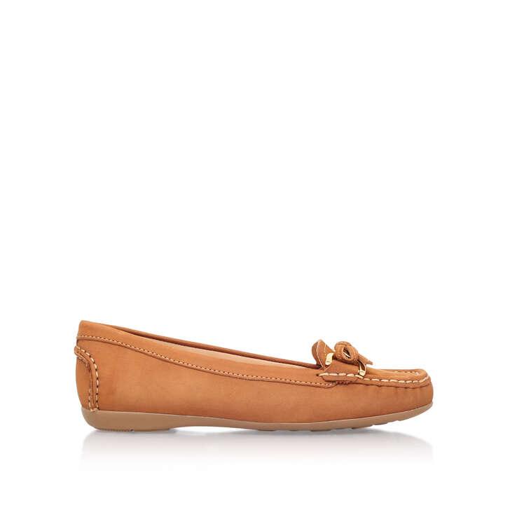 Cally Tan Flat Loafer Shoes By Carvela Comfort   Kurt Geiger