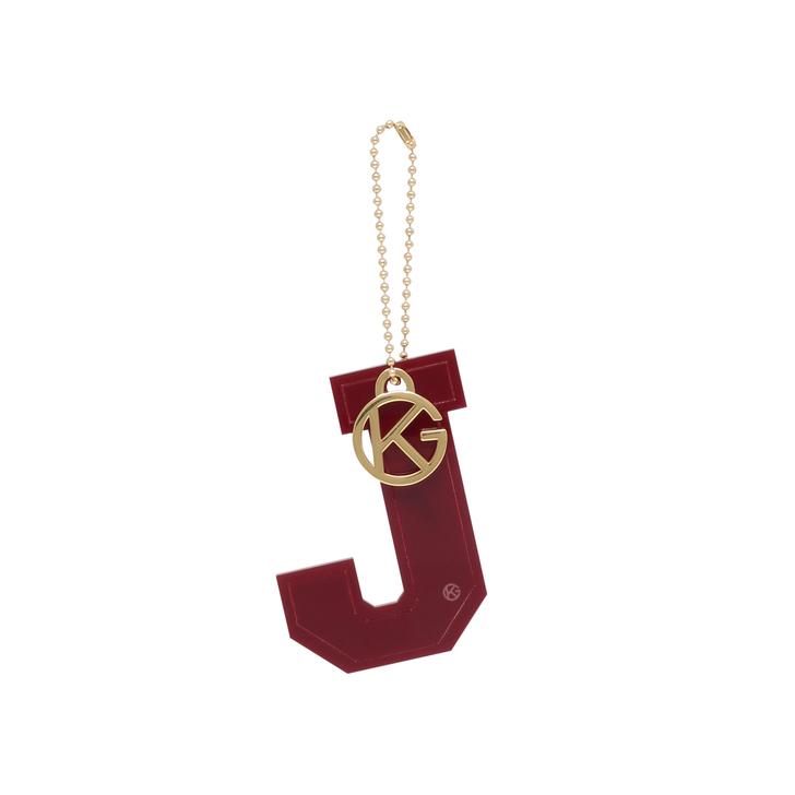 letter j charm wine letter bag charm by kurt geiger