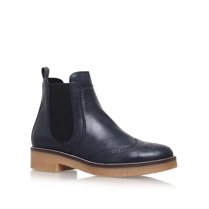 slowest navy flat ankle boots by carvela kurt geiger