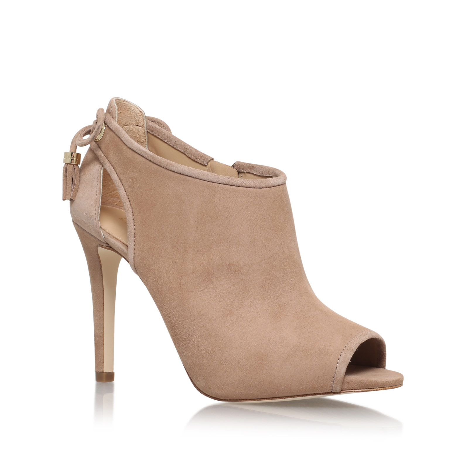 49d3a2aca78a JENNINGS BOOTIE Michael Michael Kors Jennings Taupe Suede High Heel Ankle  Boots by MICHAEL MICHAEL KORS