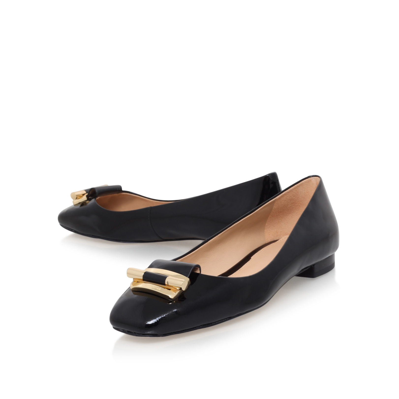 GLORIA BALLET Michael Michael Kors Gloria Black Low Heel
