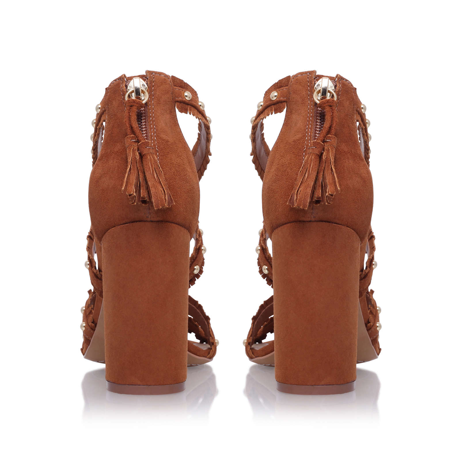 b44678fe7b5 MACHILA Vince Camuto Machila Tan Suede High Heel Sandals Block Heel ...