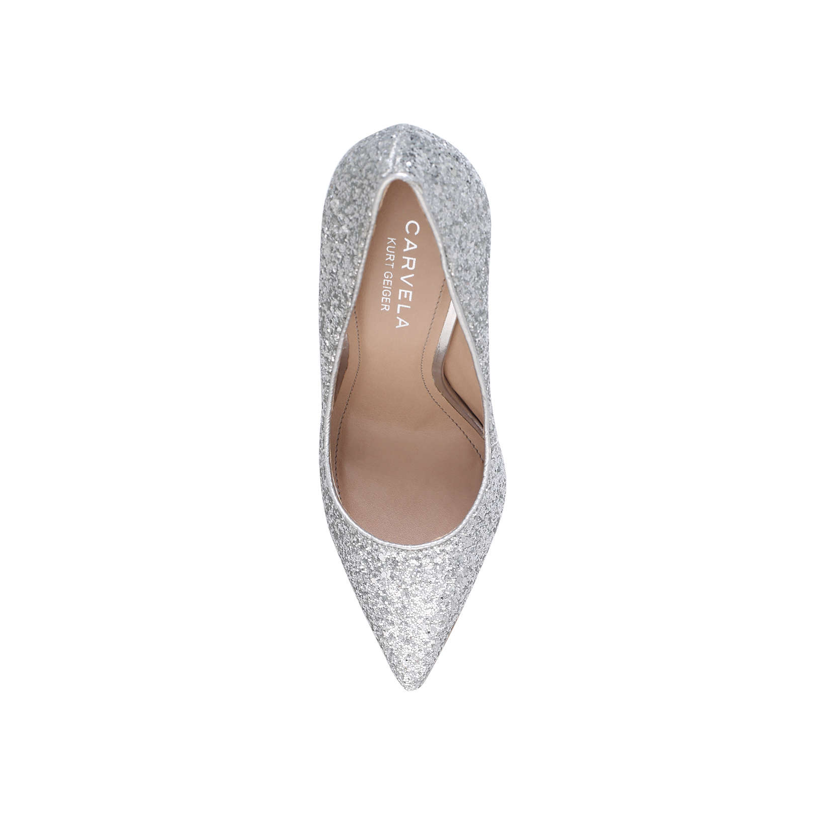 b1a7ff353ed ALICE Carvela Alice Silver High Heel Court Shoes by CARVELA