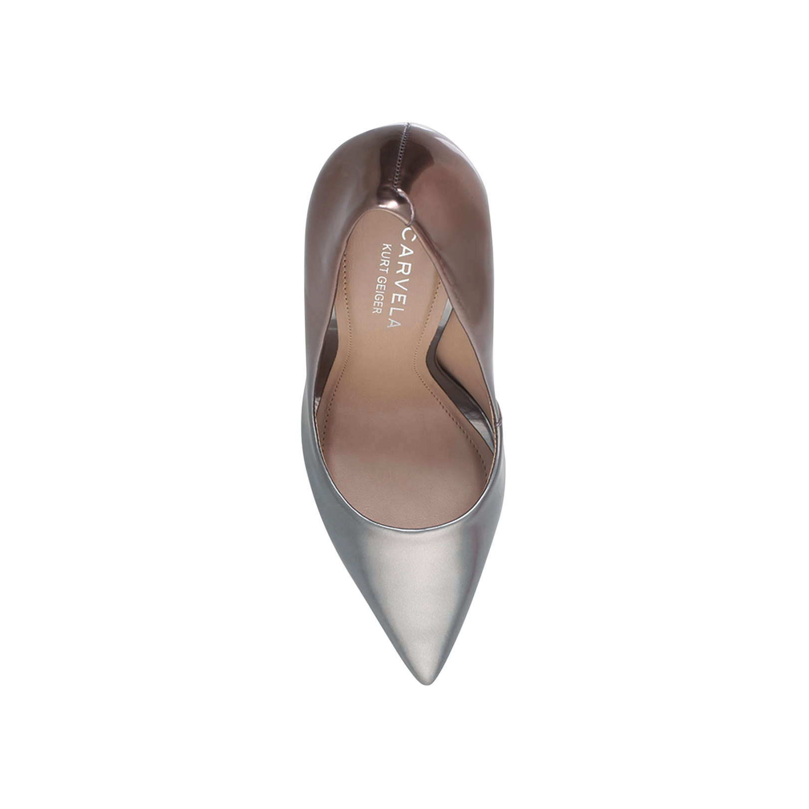 1a65dcad4eb ALICE Carvela Alice Silver Combination High Heel Court Shoes by CARVELA