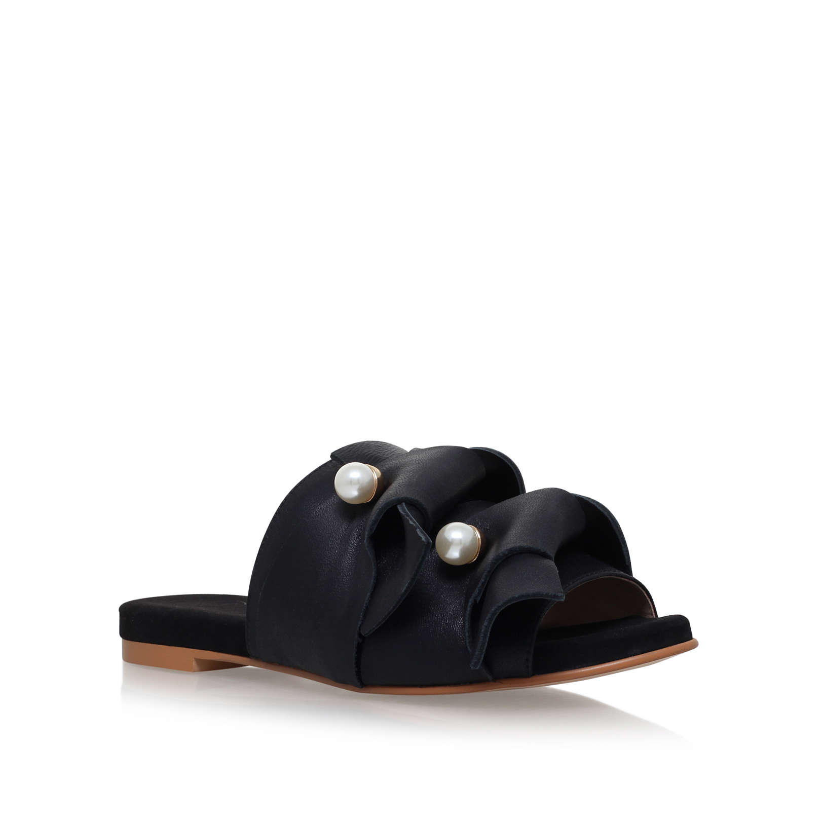 7b9c40b9655 NAOMI kg kurt geiger naomi black leather slider flat sandal by KG ...