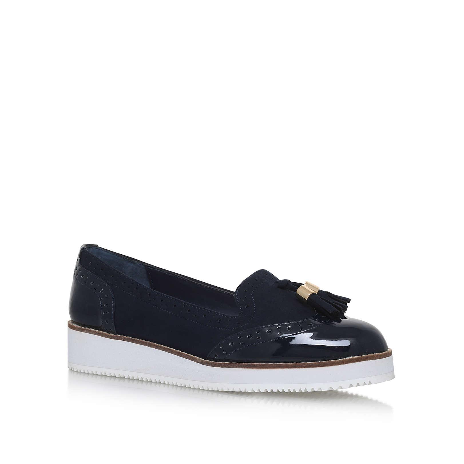 e8c6a96ede1e MITCH Carvela Mitch Navy Low Heel Loafers Flatform by CARVELA