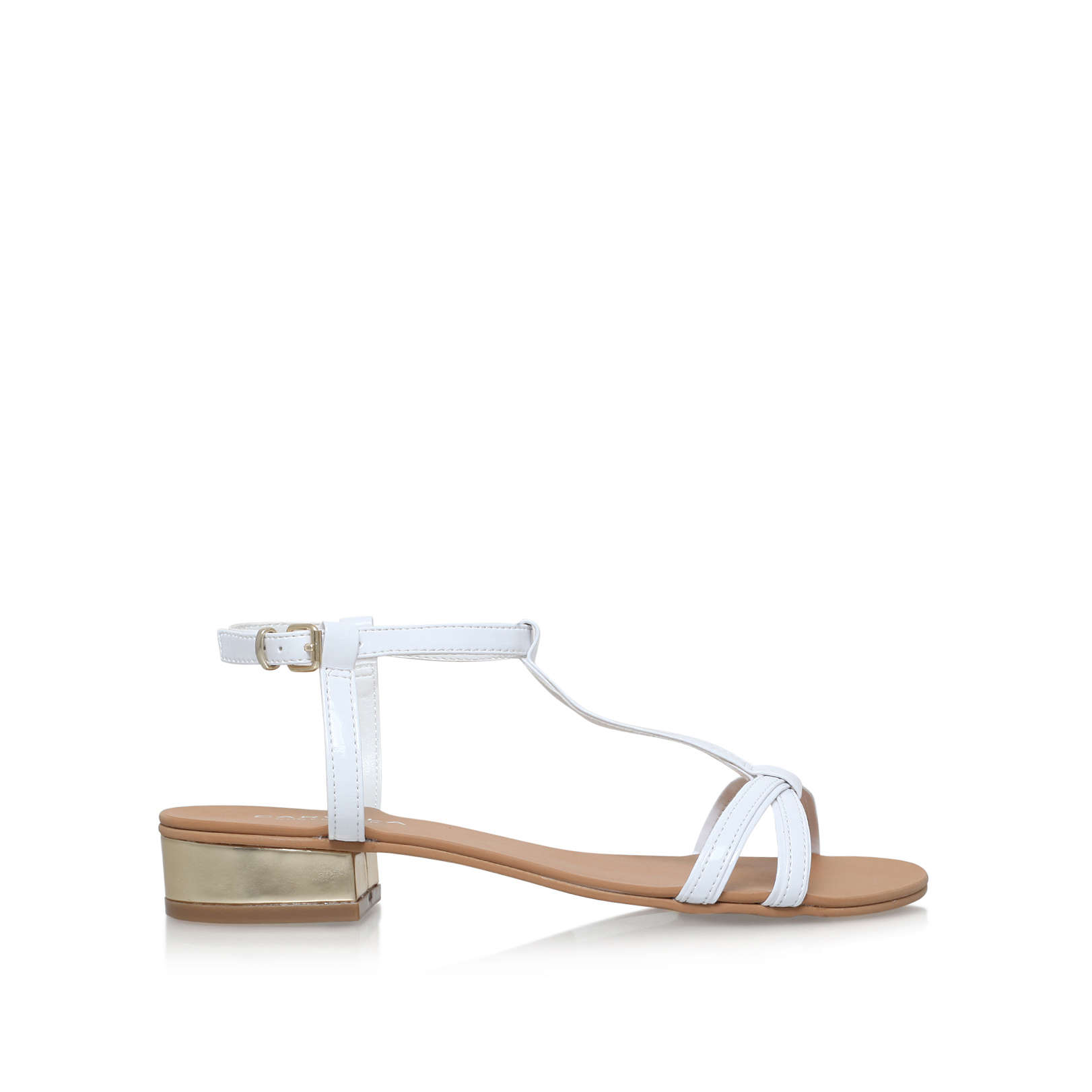 504720f45 BRAVO Carvela Bravo White Low Heel Sandals by CARVELA
