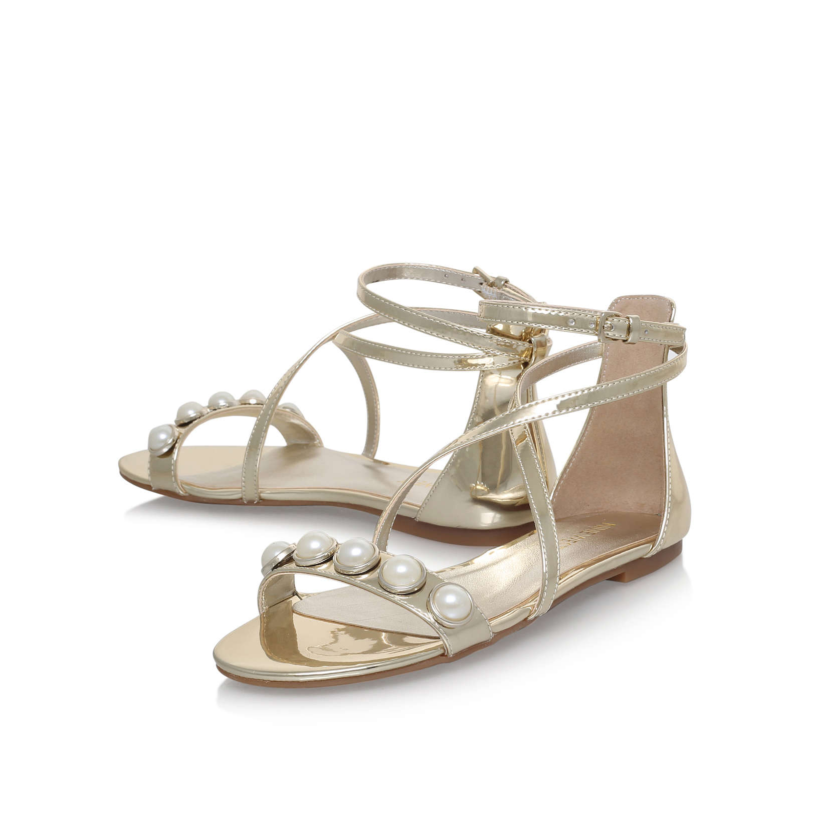 bc1e4cb2a Dane nine west dane gold flat sandals nine west jpg 1622x1622 Nine west  sandals flat