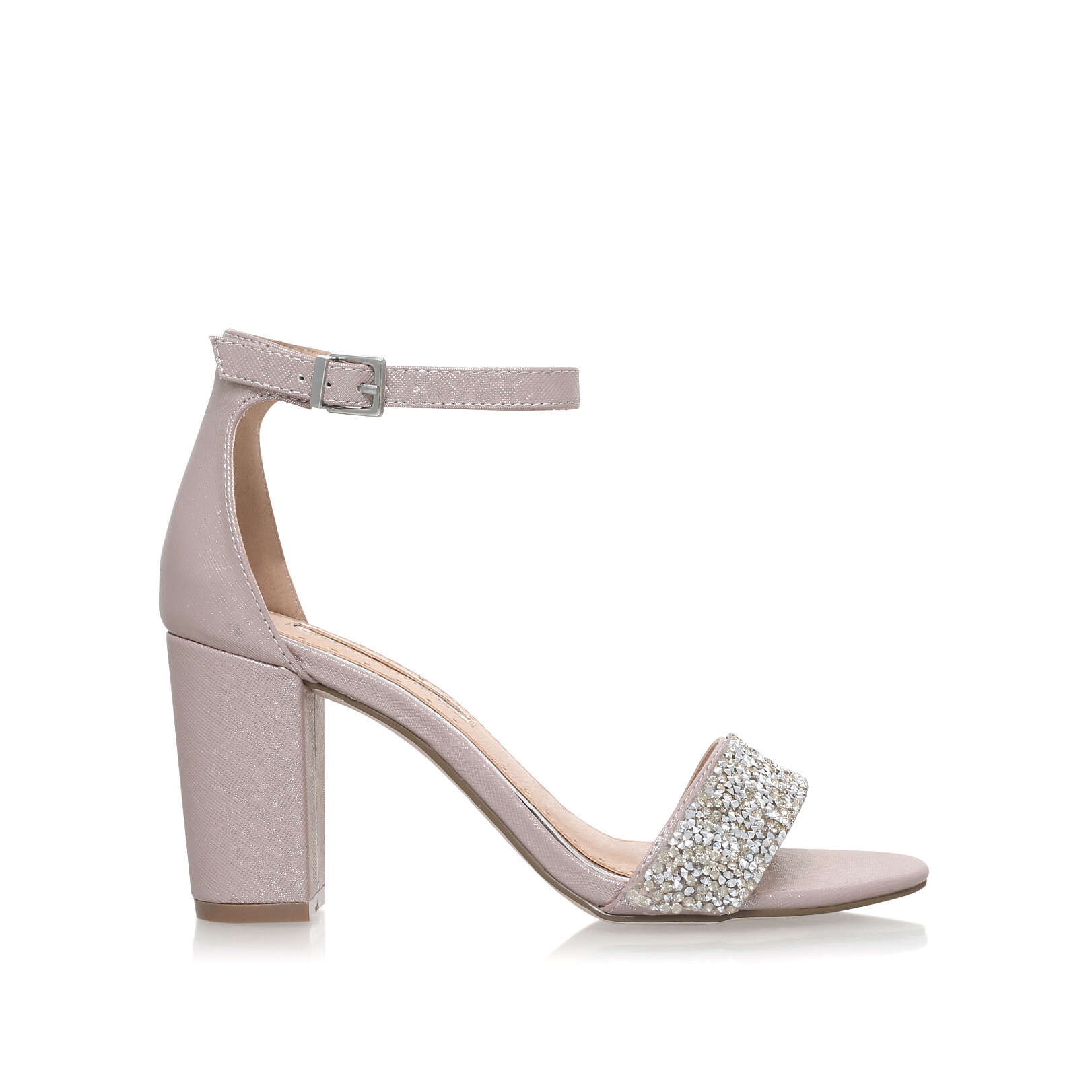 CADEY Miss KG Cadey Pale Pink Mid Heel Sandals by MISS KG