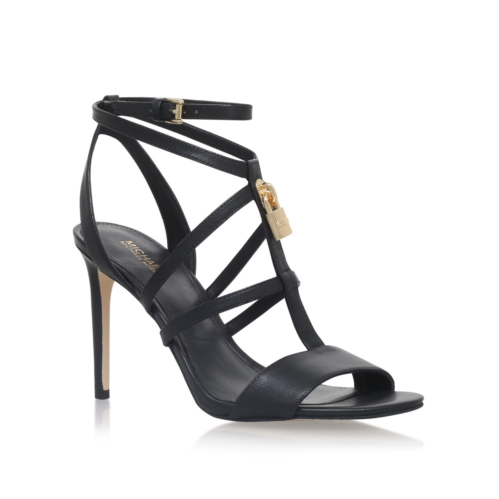 153e23ac26d6 ANTOINETTE SANDAL Michael Michael Kors Antoinette Black Leather High ...