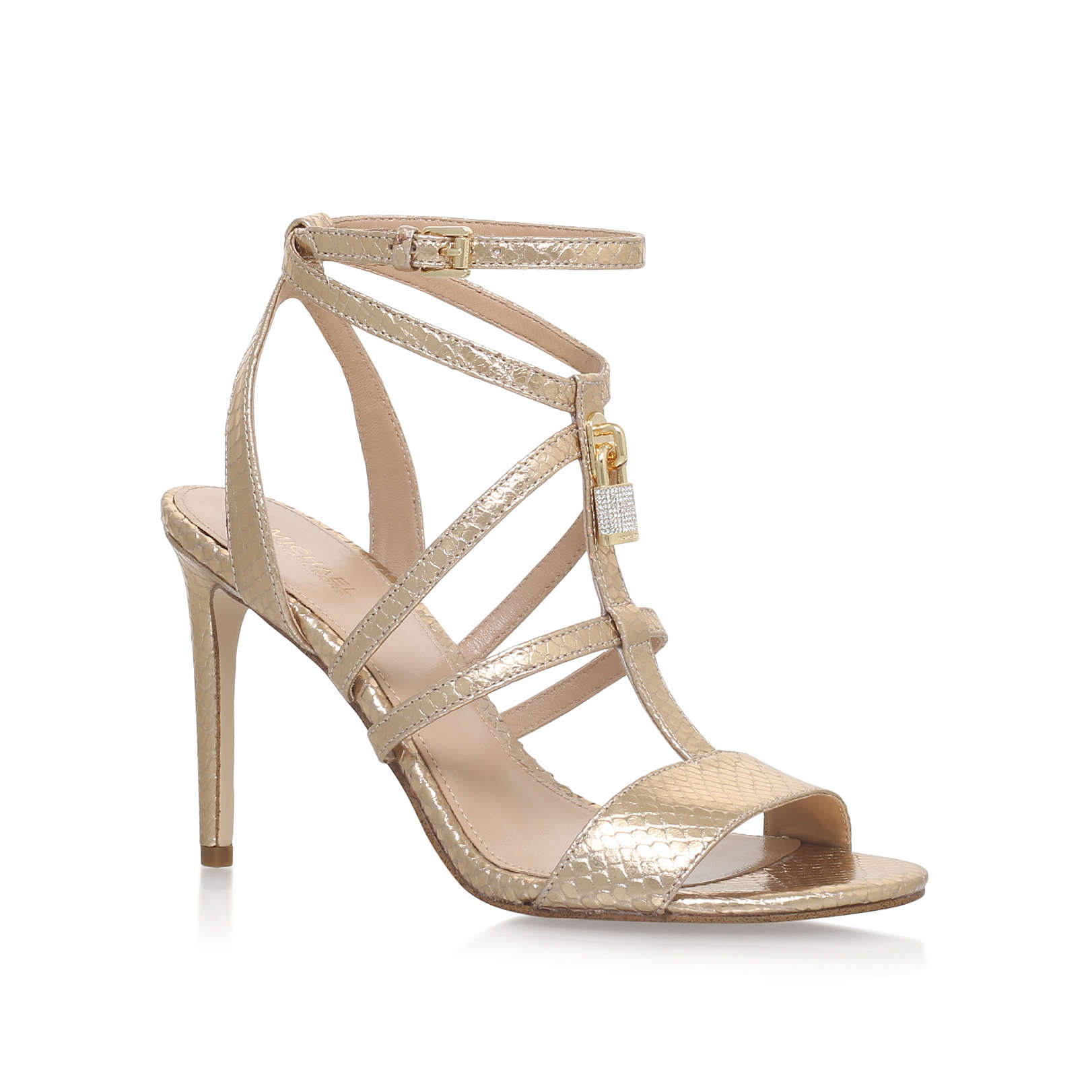 f8b964c2bf62 ANTOINETTE SANDAL Michael Michael Kors Antoinette Gold High Heel Sandals by MICHAEL  MICHAEL KORS