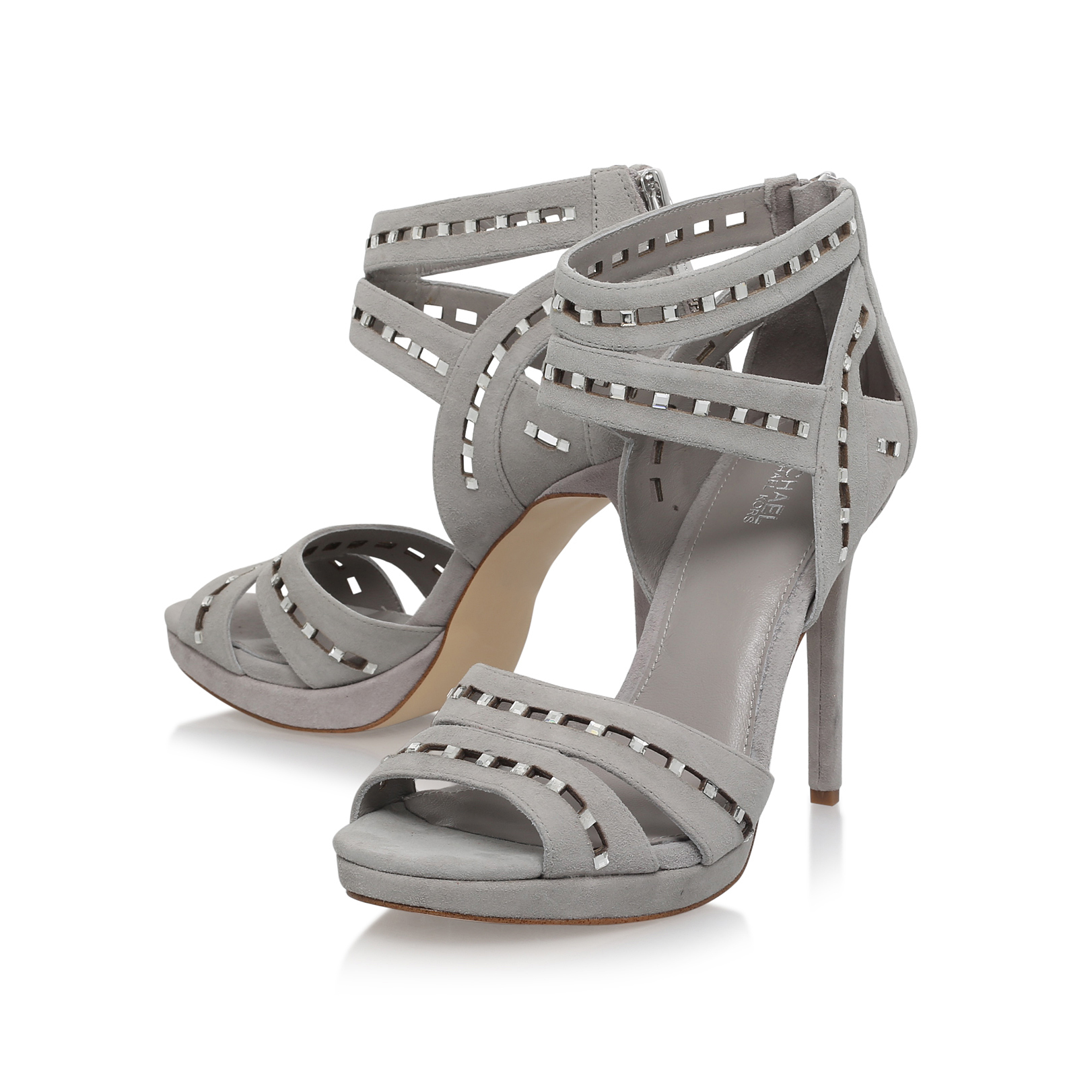 db5e8459ed66 HONEY SANDAL Michael Michael Kors Honey Sandal Light Grey Suede ...