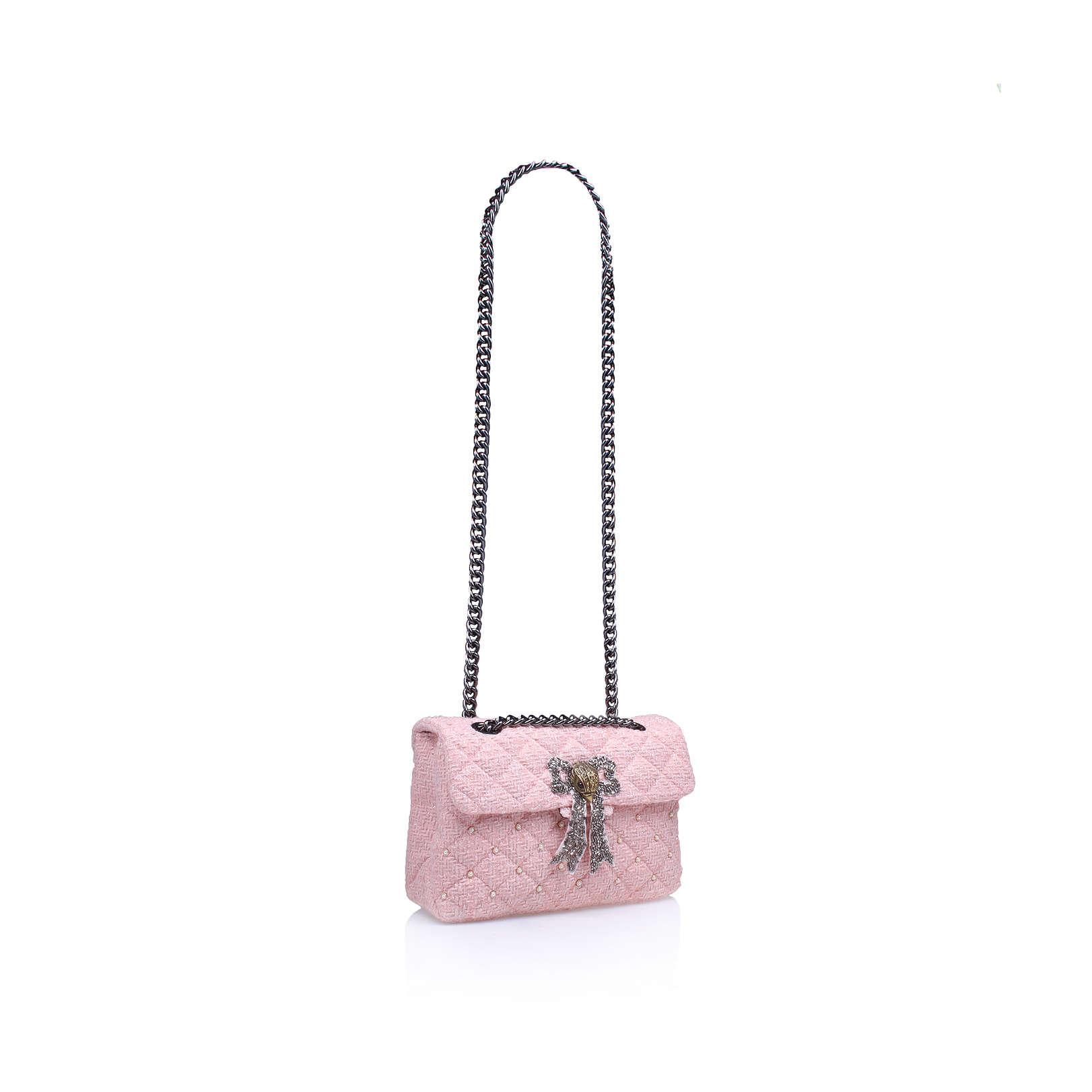TWEED KENSINGTON BAG Kurt Geiger London Tweed Kensington Pink Day ...