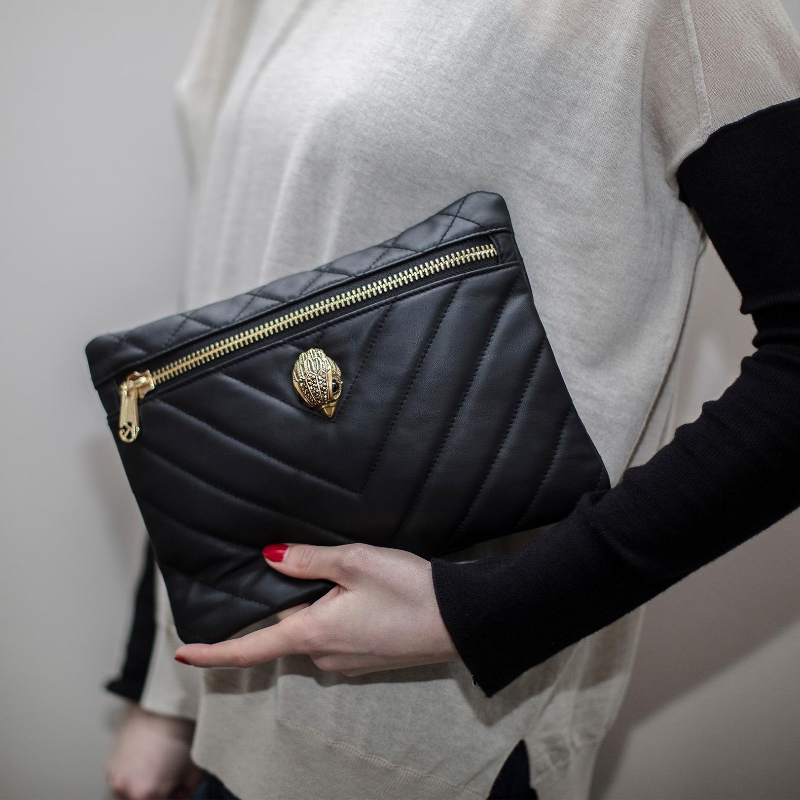 Leather Kensington Pouch Kurt Geiger London Evening Bags