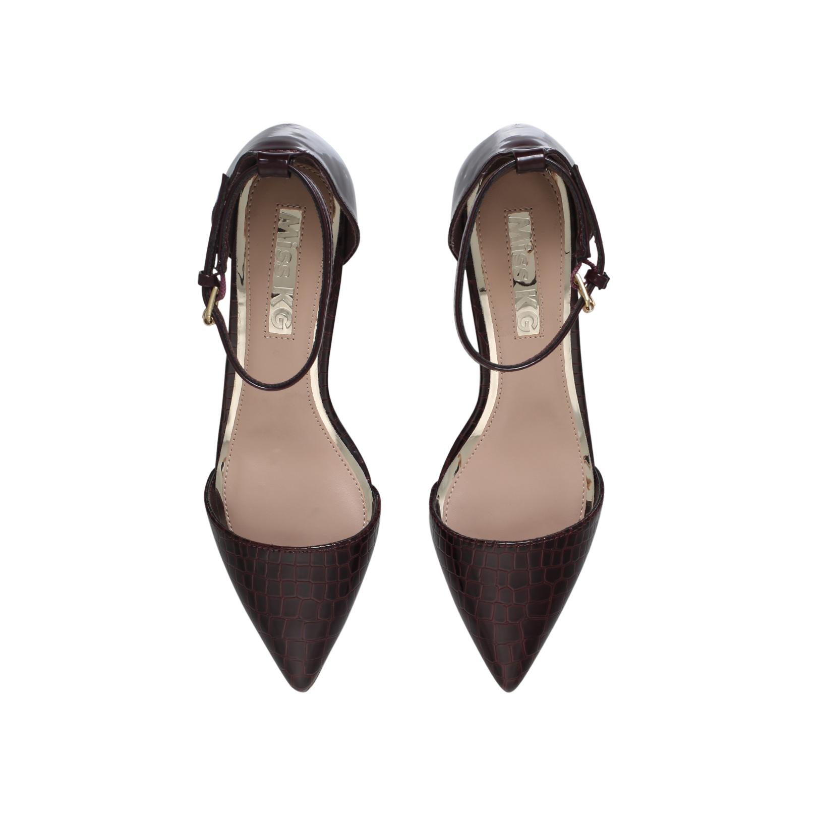 d6d11e96585 CARLA Miss KG Carla Wine Mid Heel Court Shoes Block Heel by MISS KG