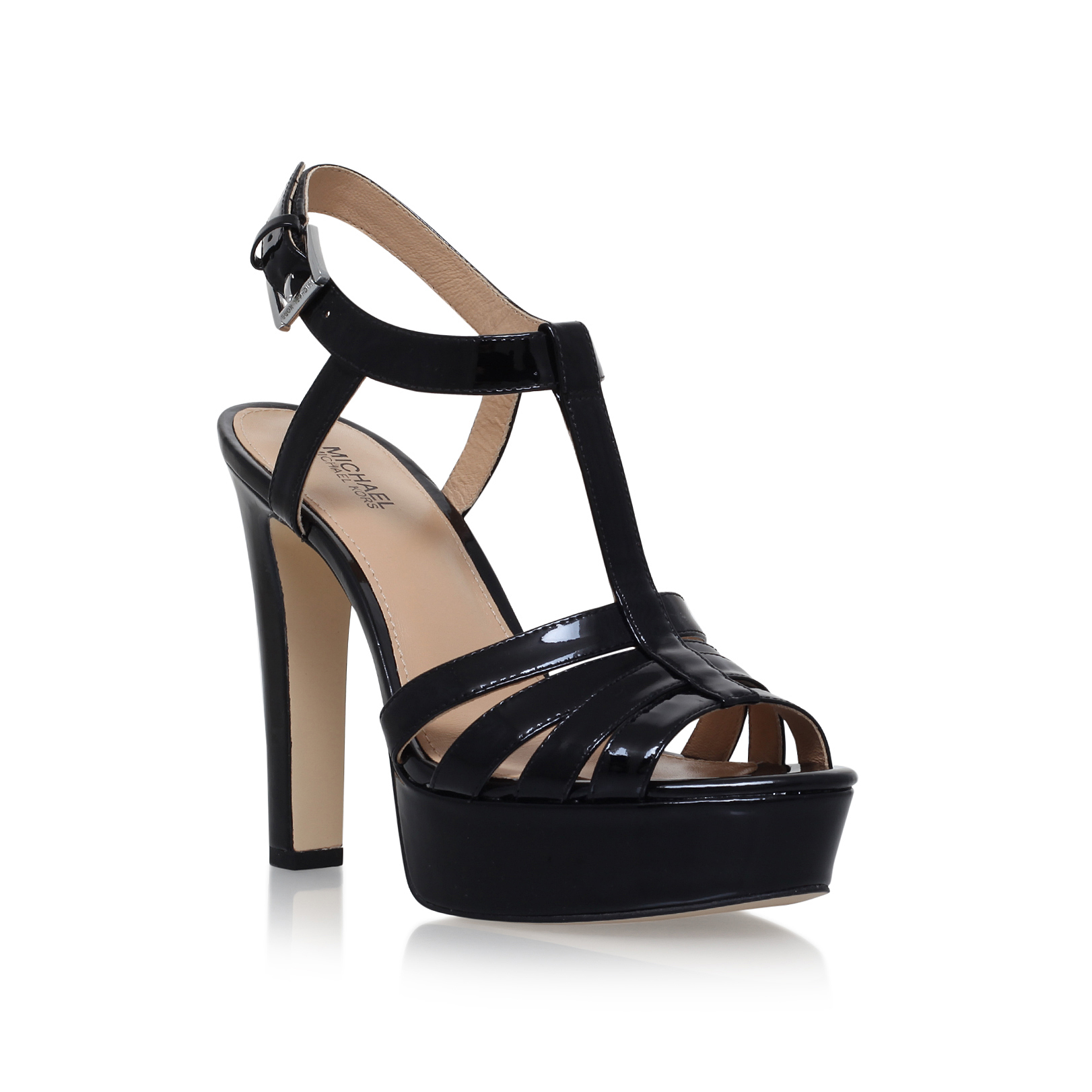 0270f071ac4 CATALINA SANDAL Michael Michael Kors Catalina Black High Heel ...
