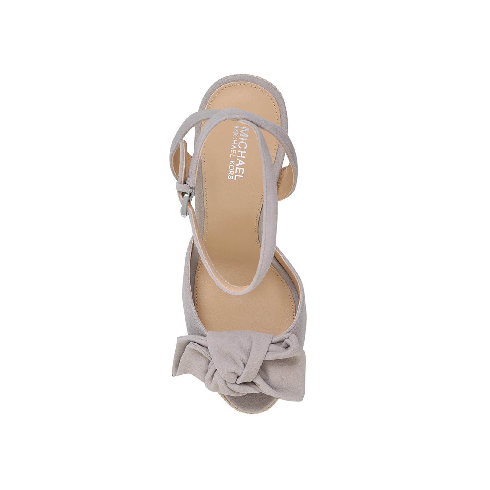 02564995686 WILLA WEDGE Michael Michael Kors Willa Mid Grey High Heel Sandals by ...