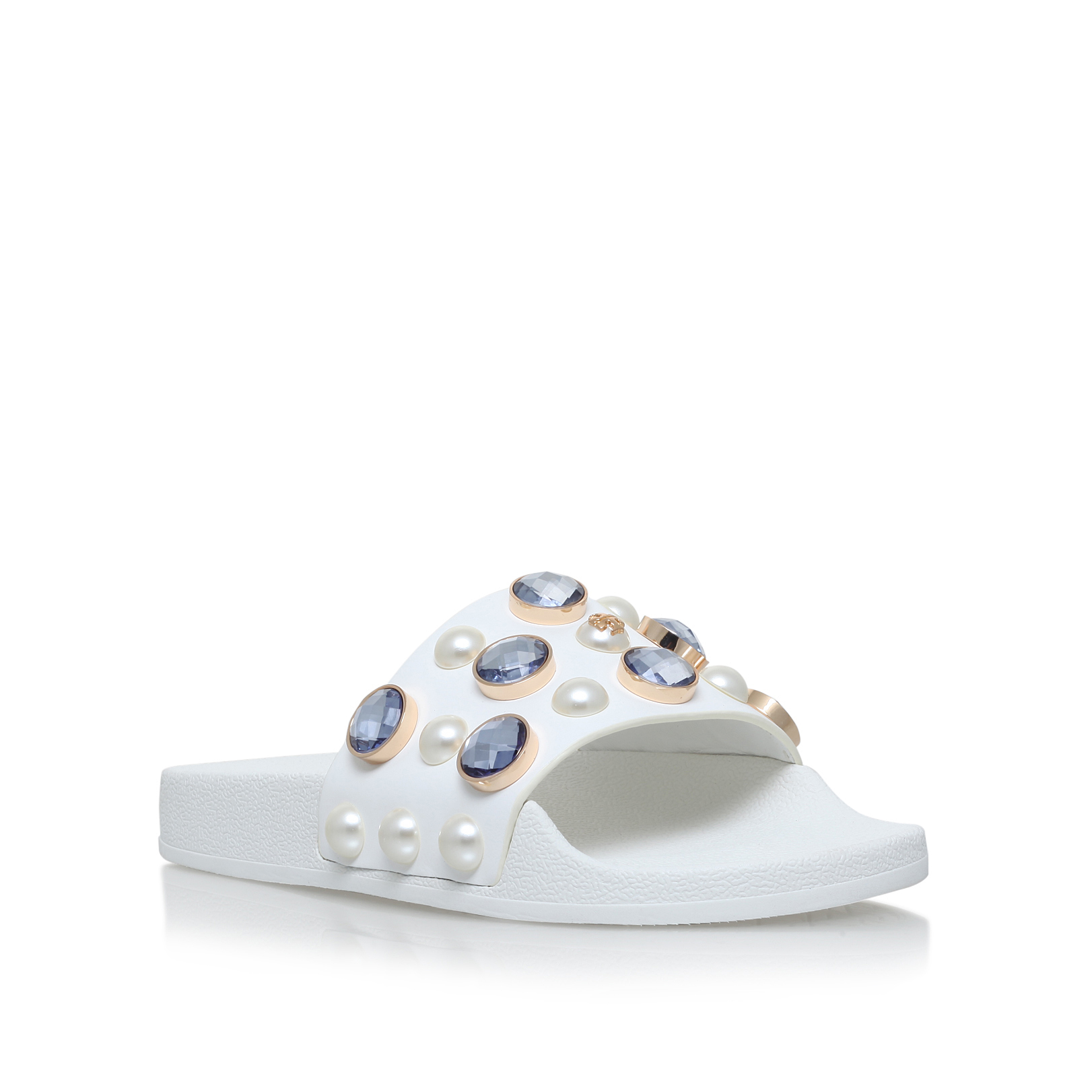bcfb55911 VALI SLIDE 'Tory Burch Vali Slide White Leather Sandal' by TORY BURCH