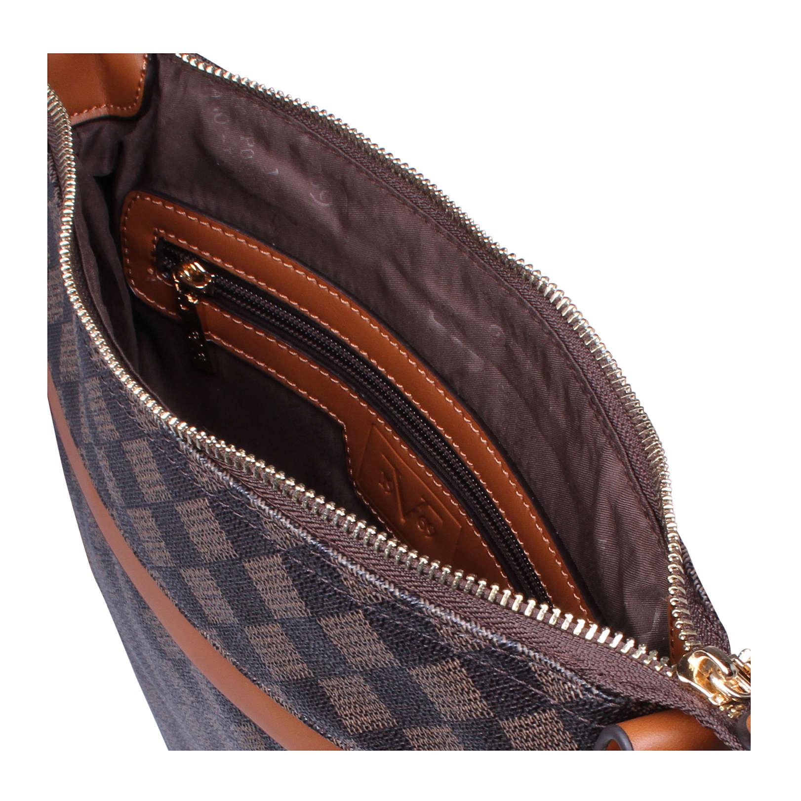 newcross versace 1969 newcross brown handbag by versace 1969. Black Bedroom Furniture Sets. Home Design Ideas