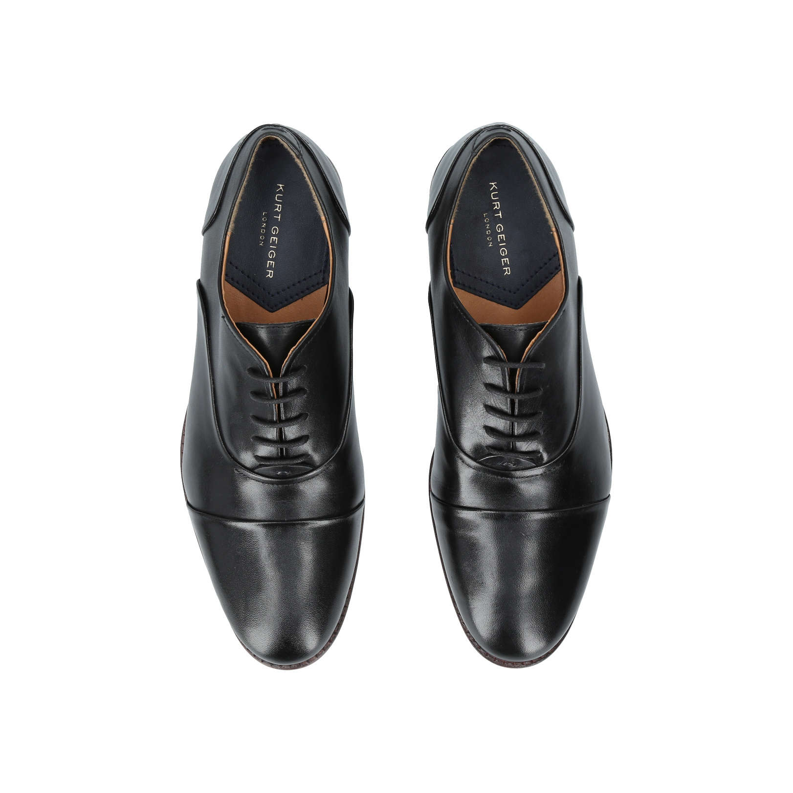 Kurt Geiger London Oliver Chaussures En Cuir En Noir - Noir bA8Pk4ixT