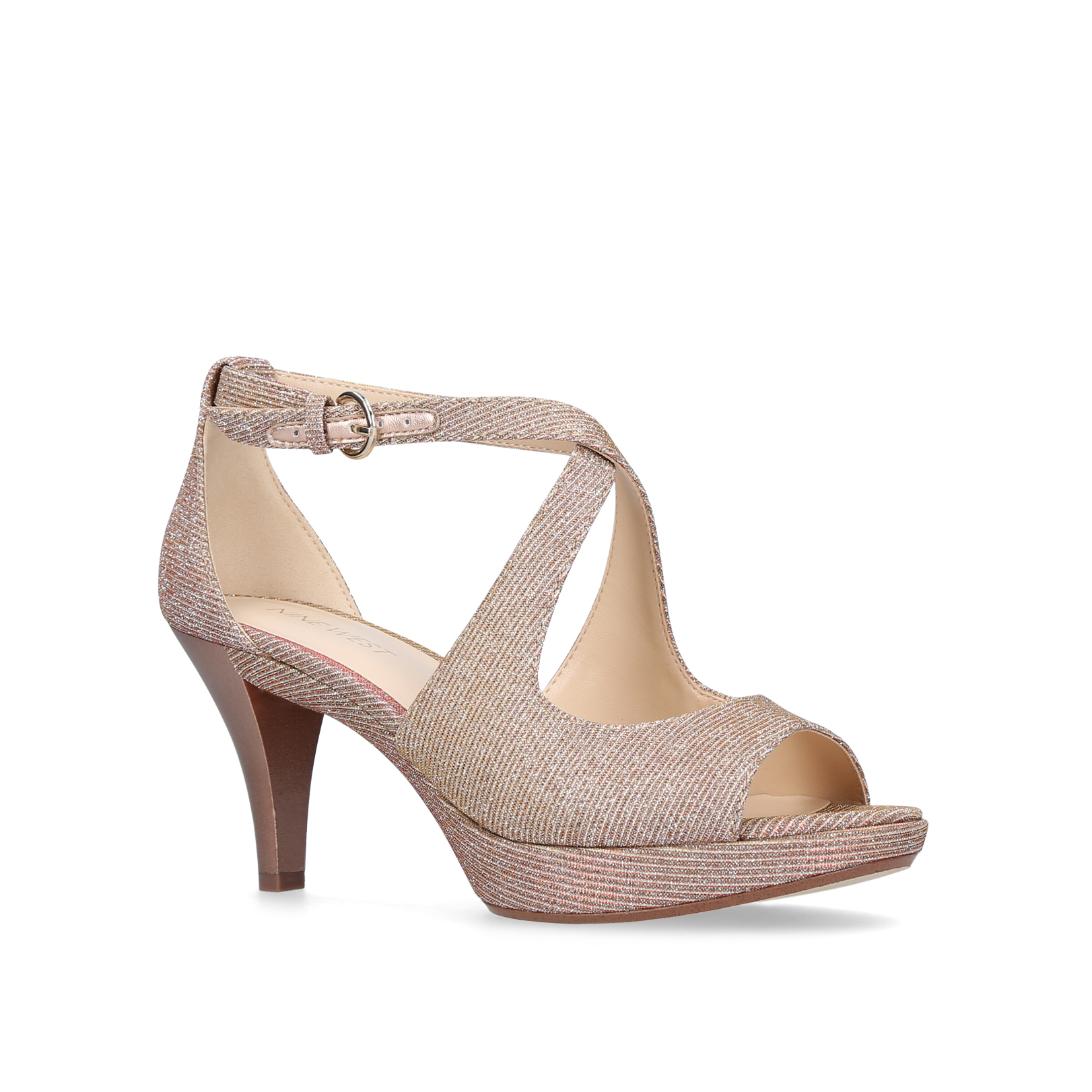 NINE WEST Jubilee heeled sandals Pale pink  LLT10YEM6