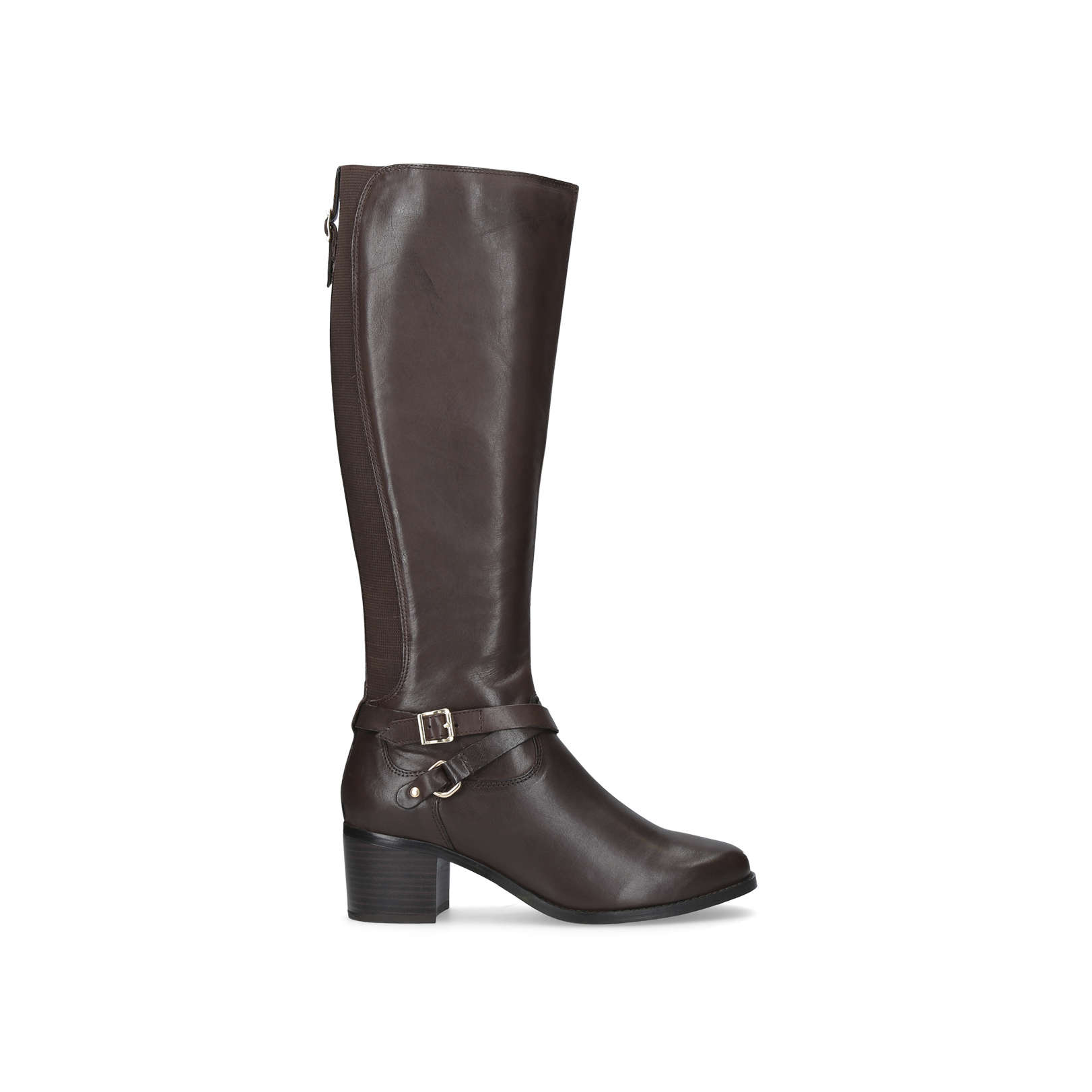 36d6f56d9ec RALEIGH Nine West Raleigh Brown Leather High Leg Boots by NINE WEST