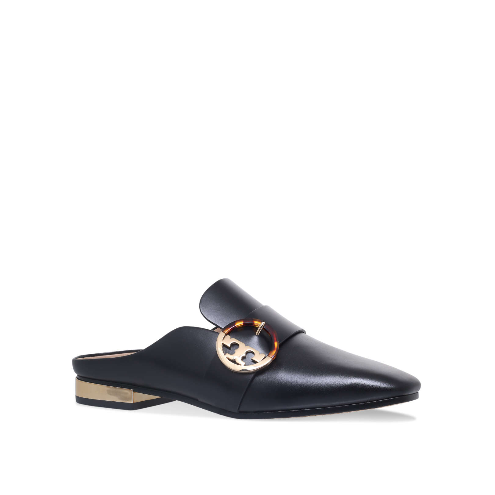 02a23acc6990 SIDNEY BACKLESS LOAFER Sidney Backless Loafer Flats Tory Burch Black by TORY  BURCH