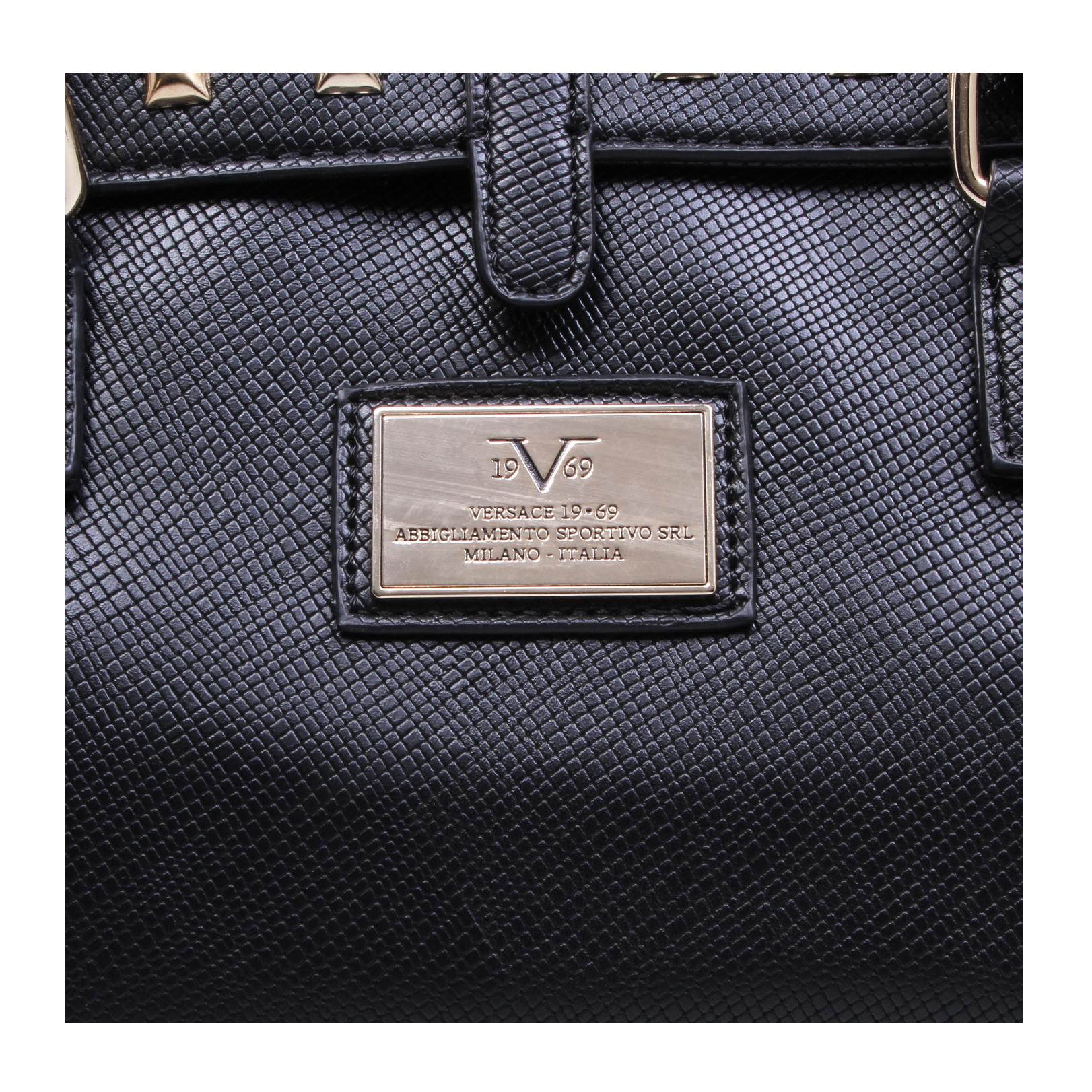 yasmin versace 1969 yasmin black handbag by versace 1969. Black Bedroom Furniture Sets. Home Design Ideas