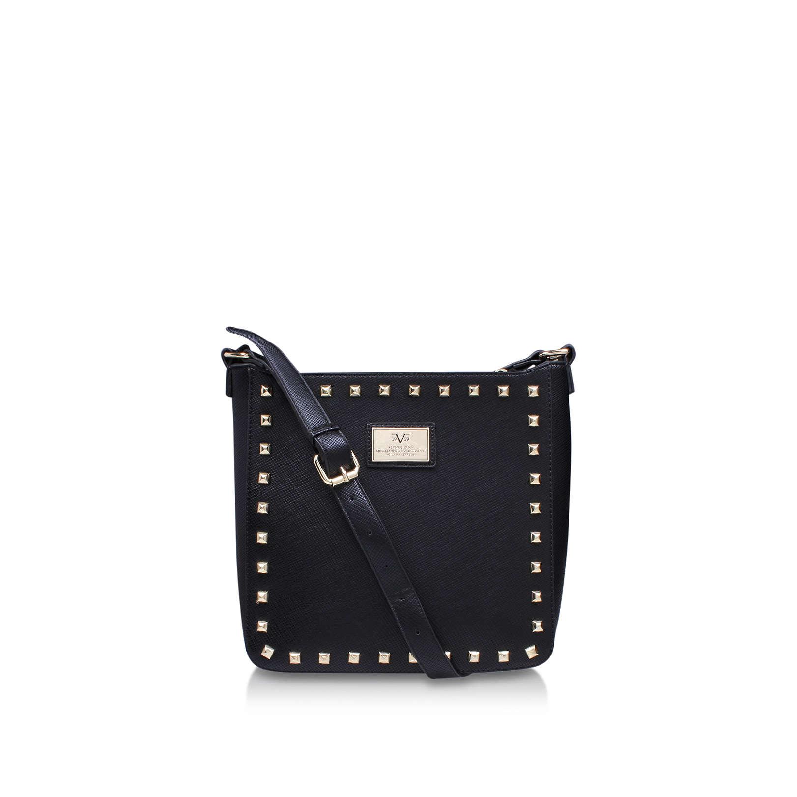 star versace 1969 star black handbag by versace 1969. Black Bedroom Furniture Sets. Home Design Ideas