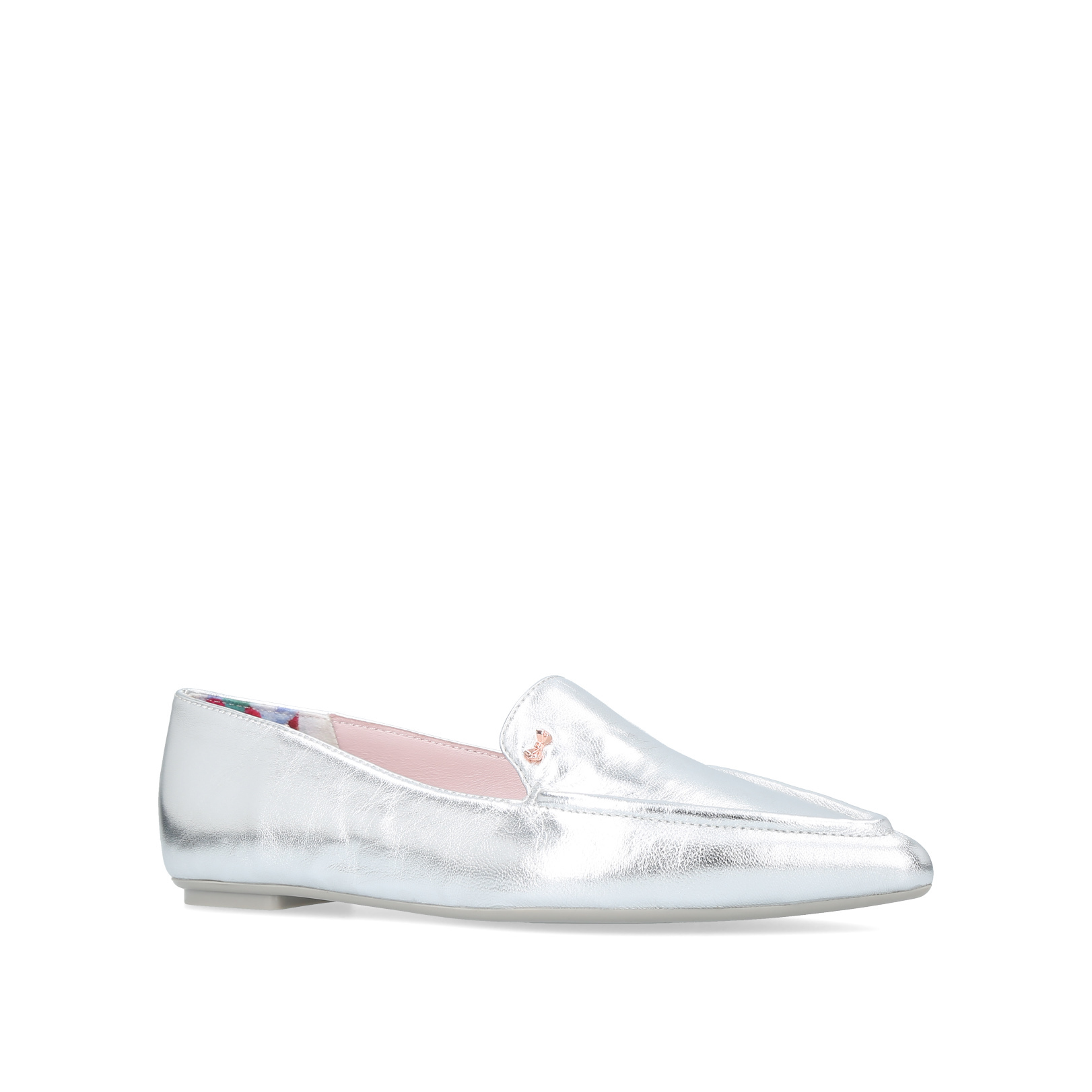 a8d8726d6f87af SHLIM Ted Baker Shlim Silver Leather Flats by TED BAKER