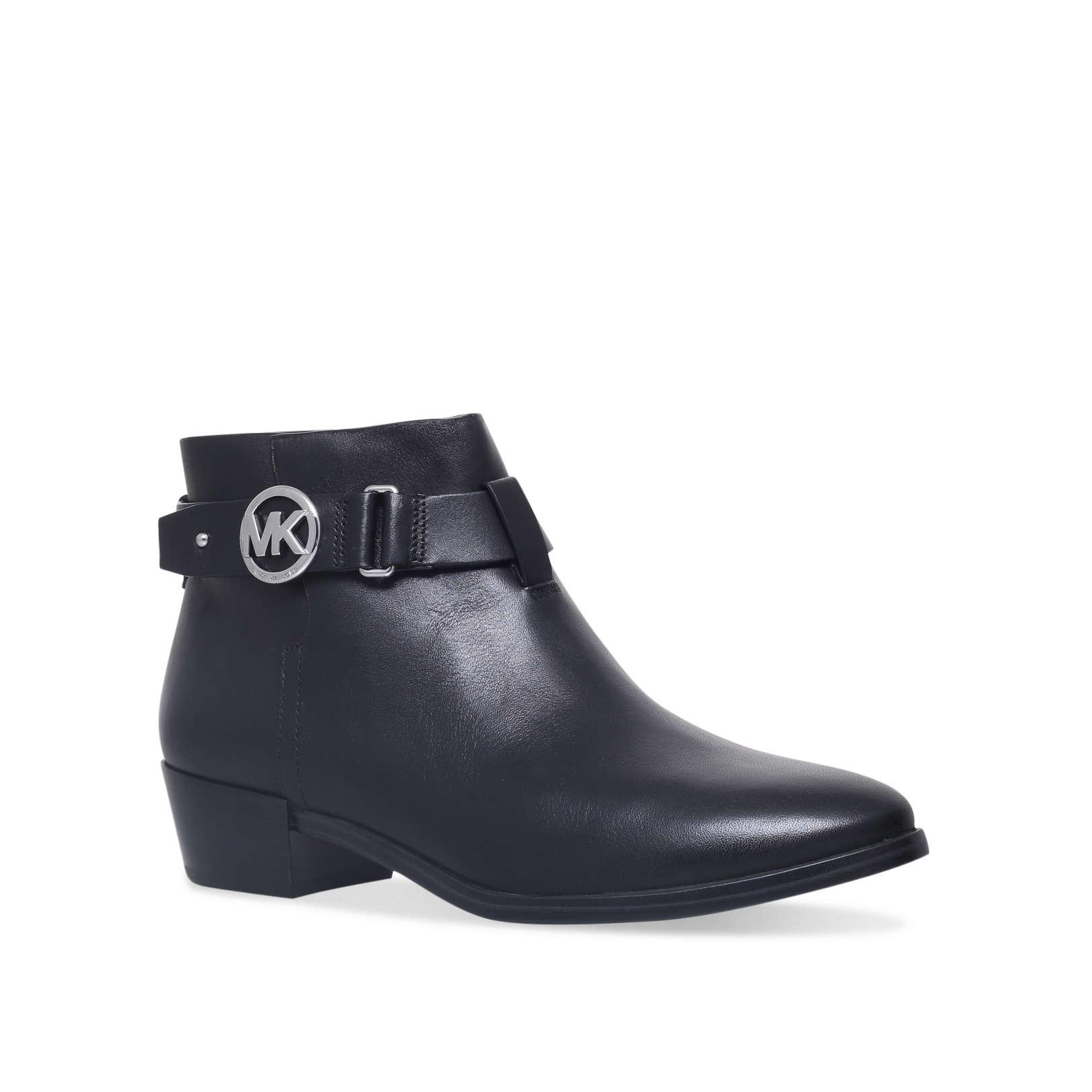 3f61b7820c3a HARLAND BOOTIE  Michael Michael Kors Harland Bootie Black Leather Ankle Boot   by MICHAEL MICHAEL KORS