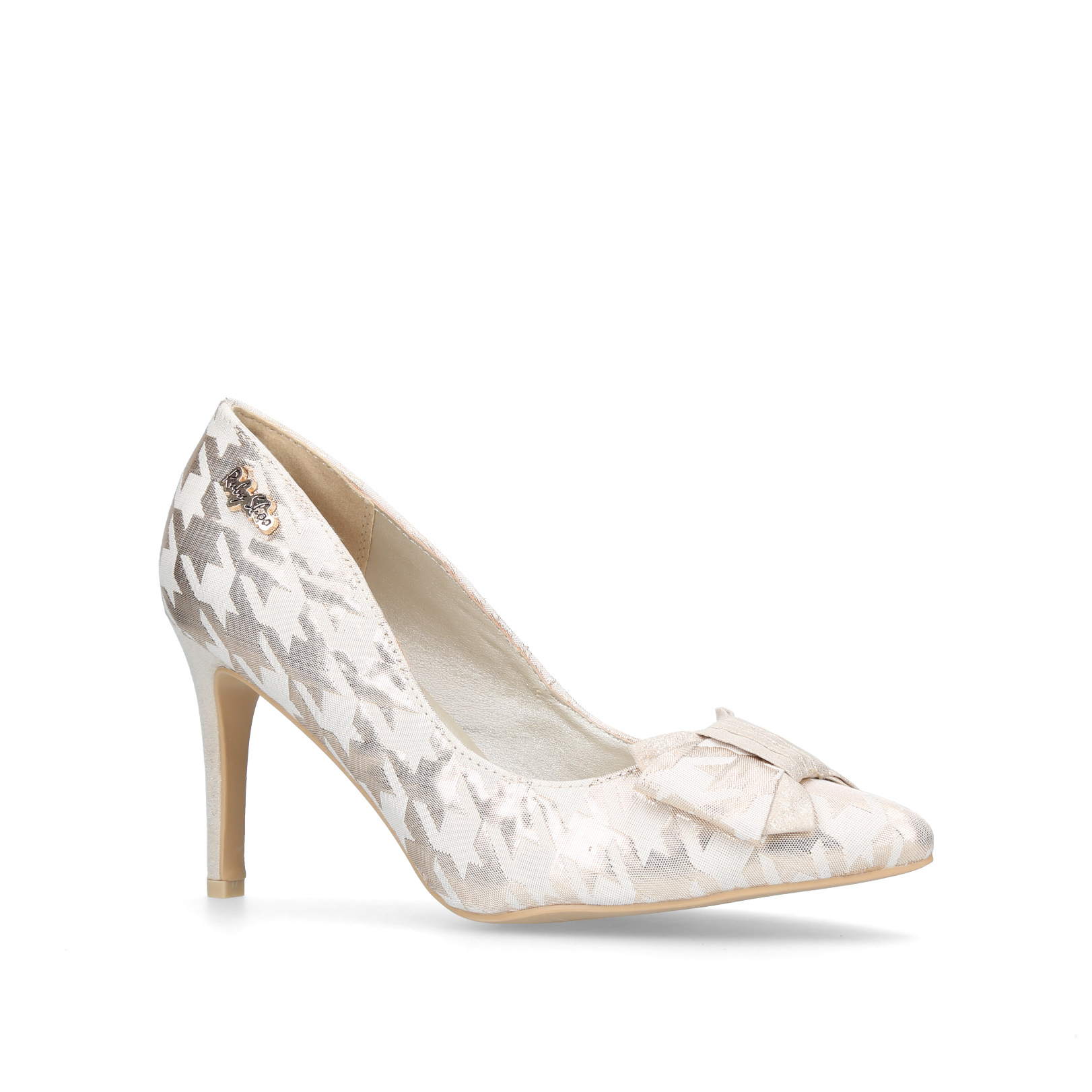 JENNA Ruby Shoo Jenna Cream Fabric   Other Occasion Heels 2d980c9849a1