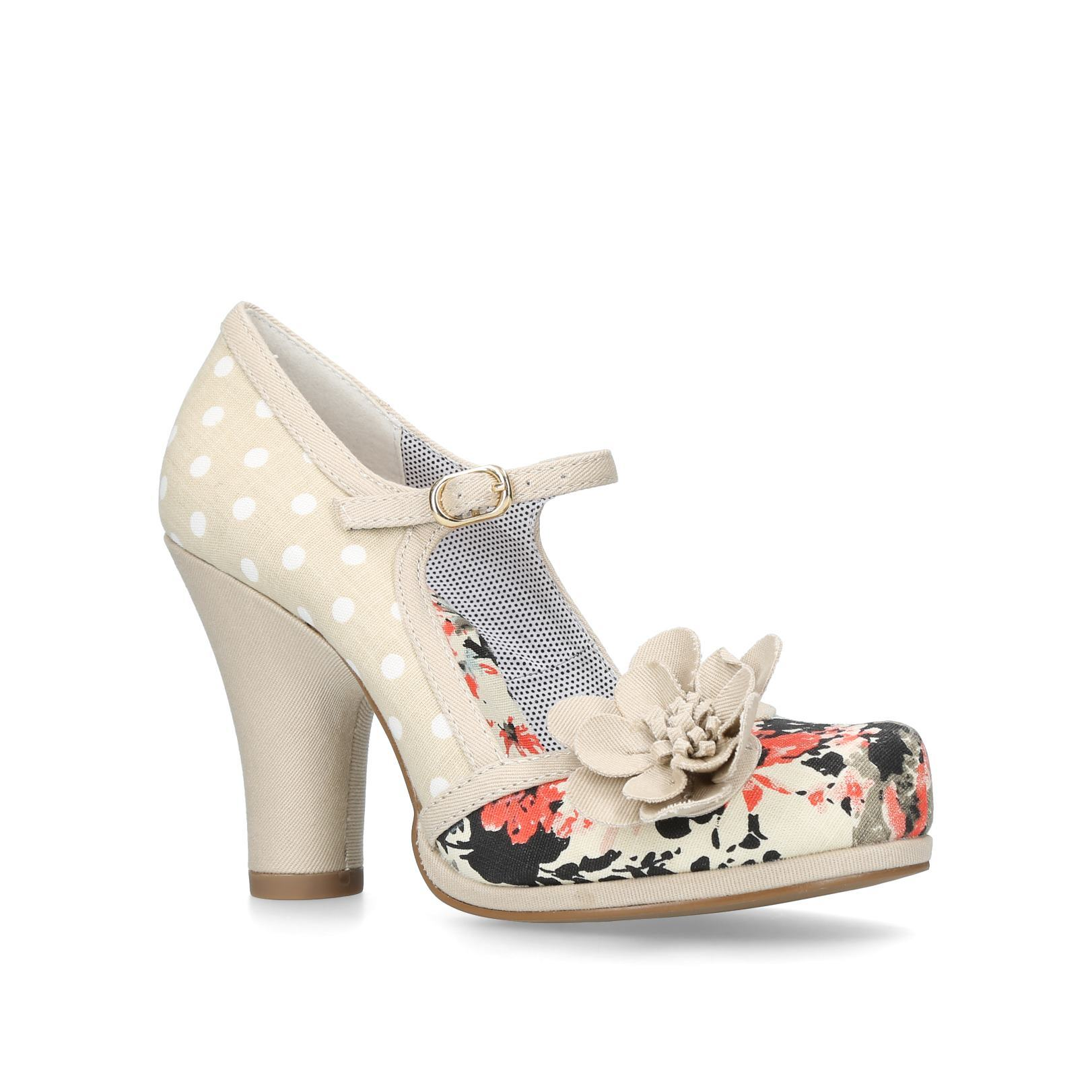 TANYA Rubyshoo Tanya Beige Fabric Occasion Heels Block Heel by RUBY SHOO 4ad465739c
